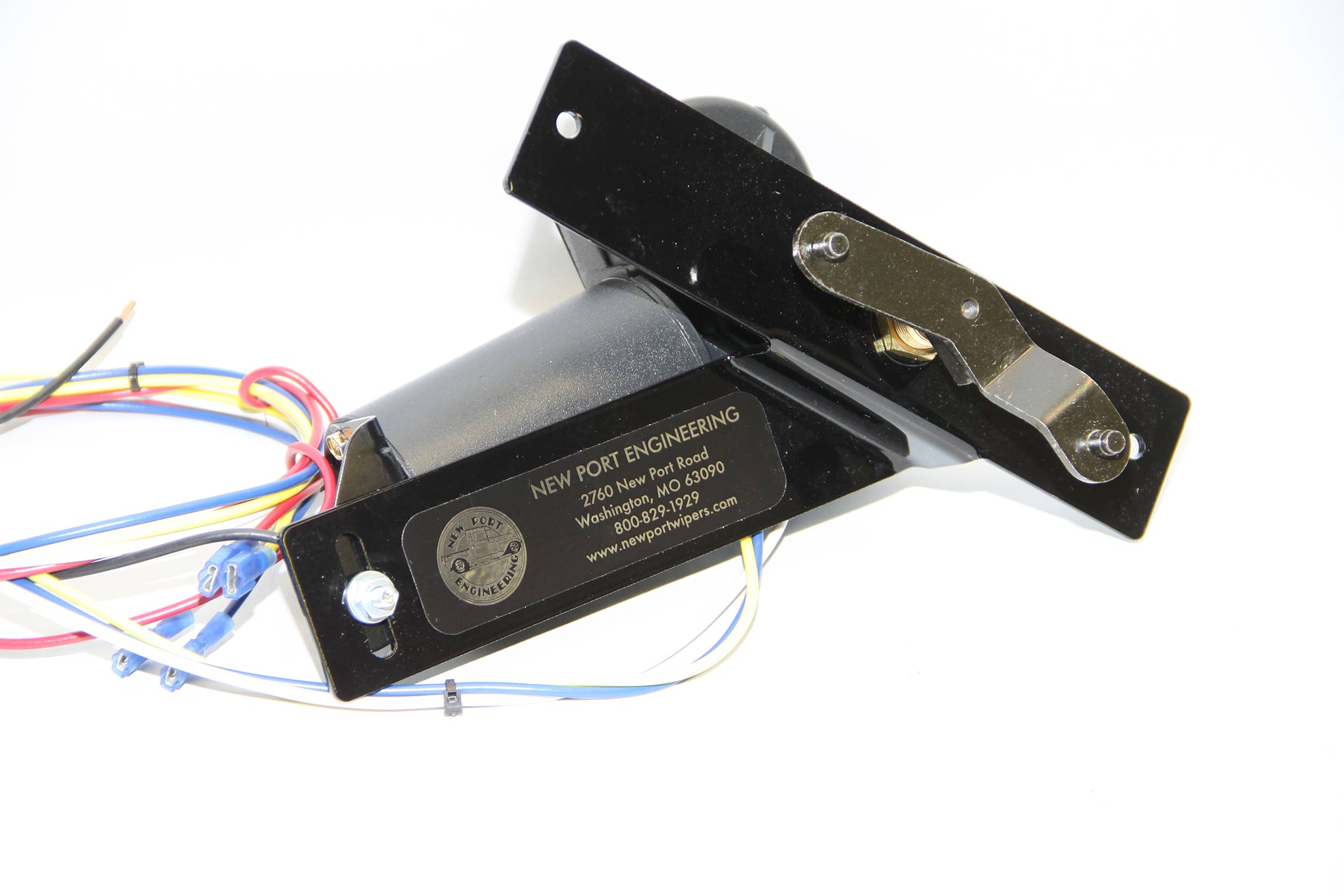 New Port Engineering offers electric windshield wiper conversions for a variety of cars and trucks. This example is for 1959 Ford cars.