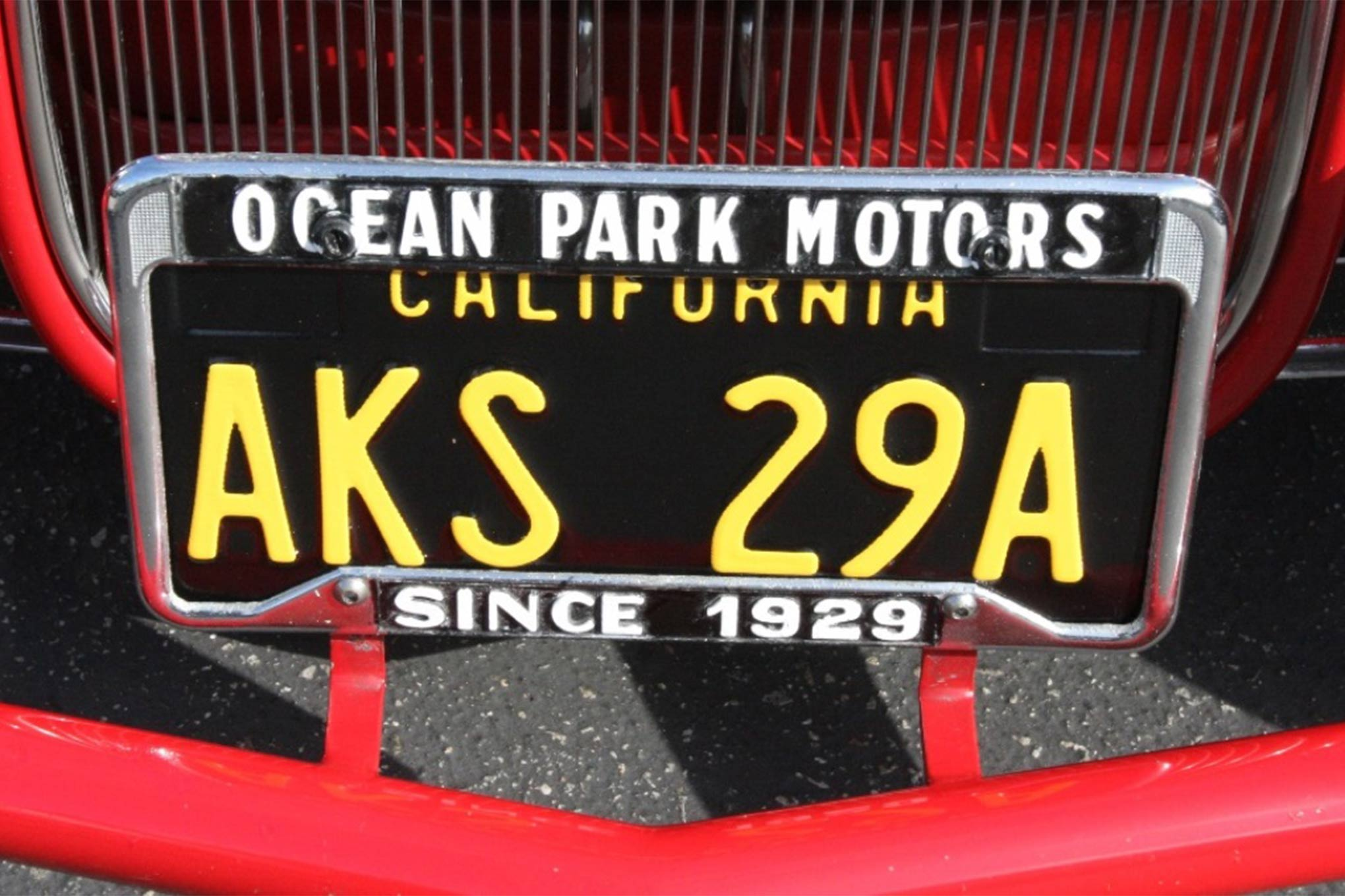 Our buddy Alan K ordered a personalized combination of letters and numbers for the brand new '60s style plates on his genuine '60s survivor 1929 Model A.