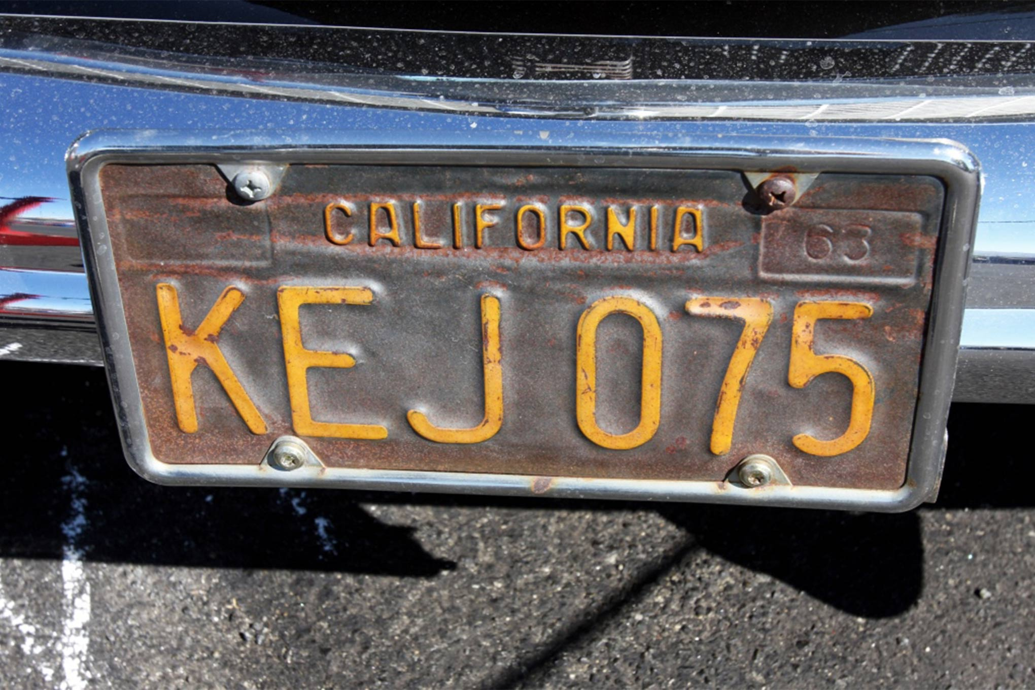 If this hot rodder wants a fresh replica set of those time-worn '60s California tags, the Department of Motor Vehicles can provide them.