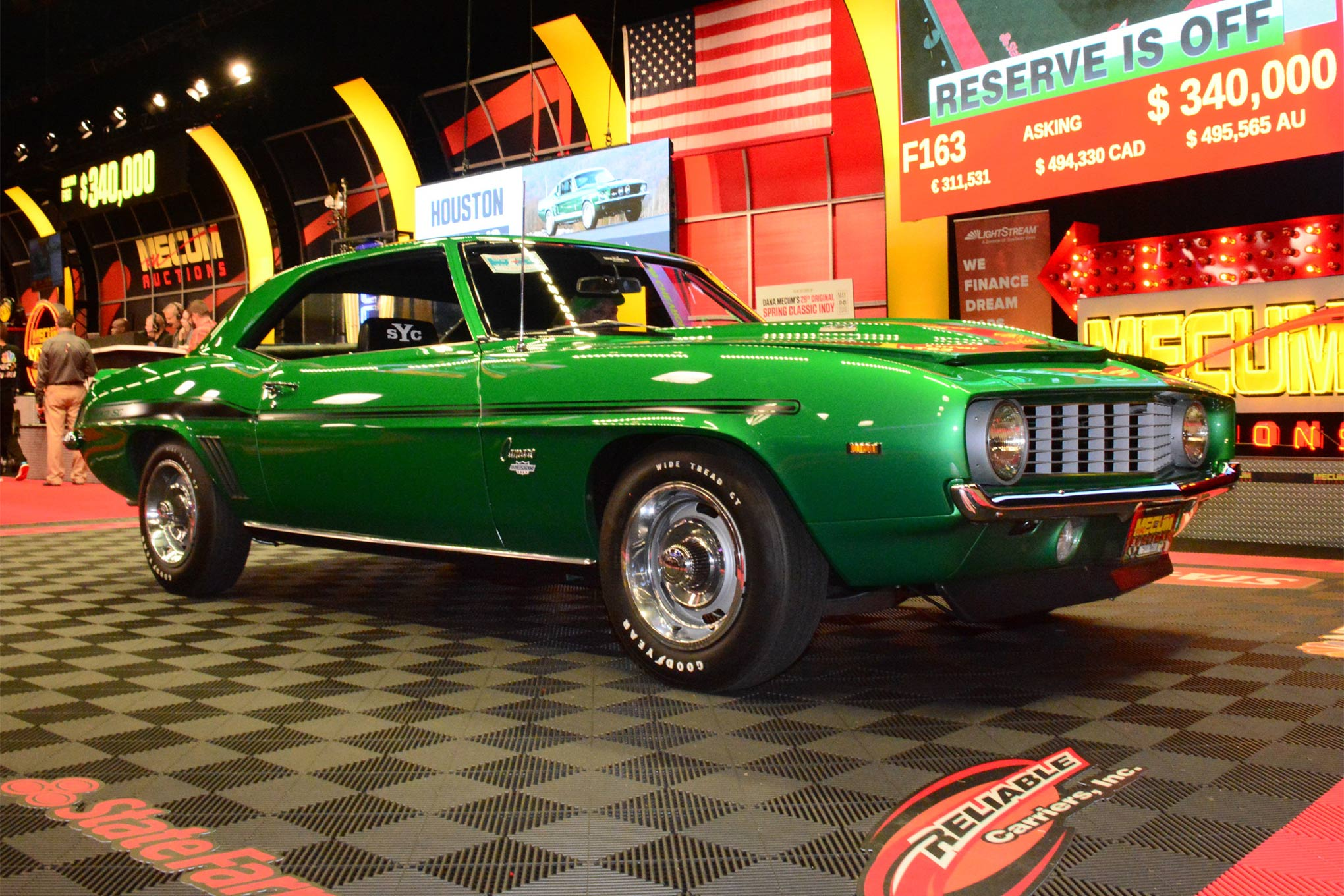 The highest-priced Chevrolet was a 1963 tanker Corvette that sold for $710,000 on Saturday. The top classic Chevy muscle car was this 1969 Yenko Camaro from the Wayne Schmeeckle collection, which brought $330,000 on Friday.