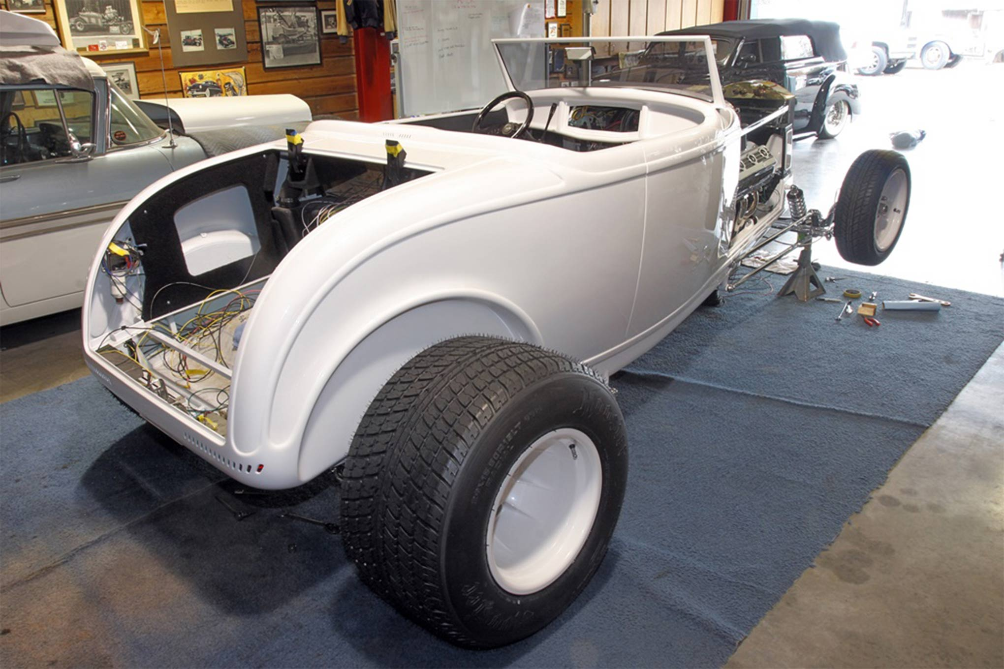 Tim Lohrey at Tim's Hot Rods is doing a fantastic job bring the roadster back to its original glory.