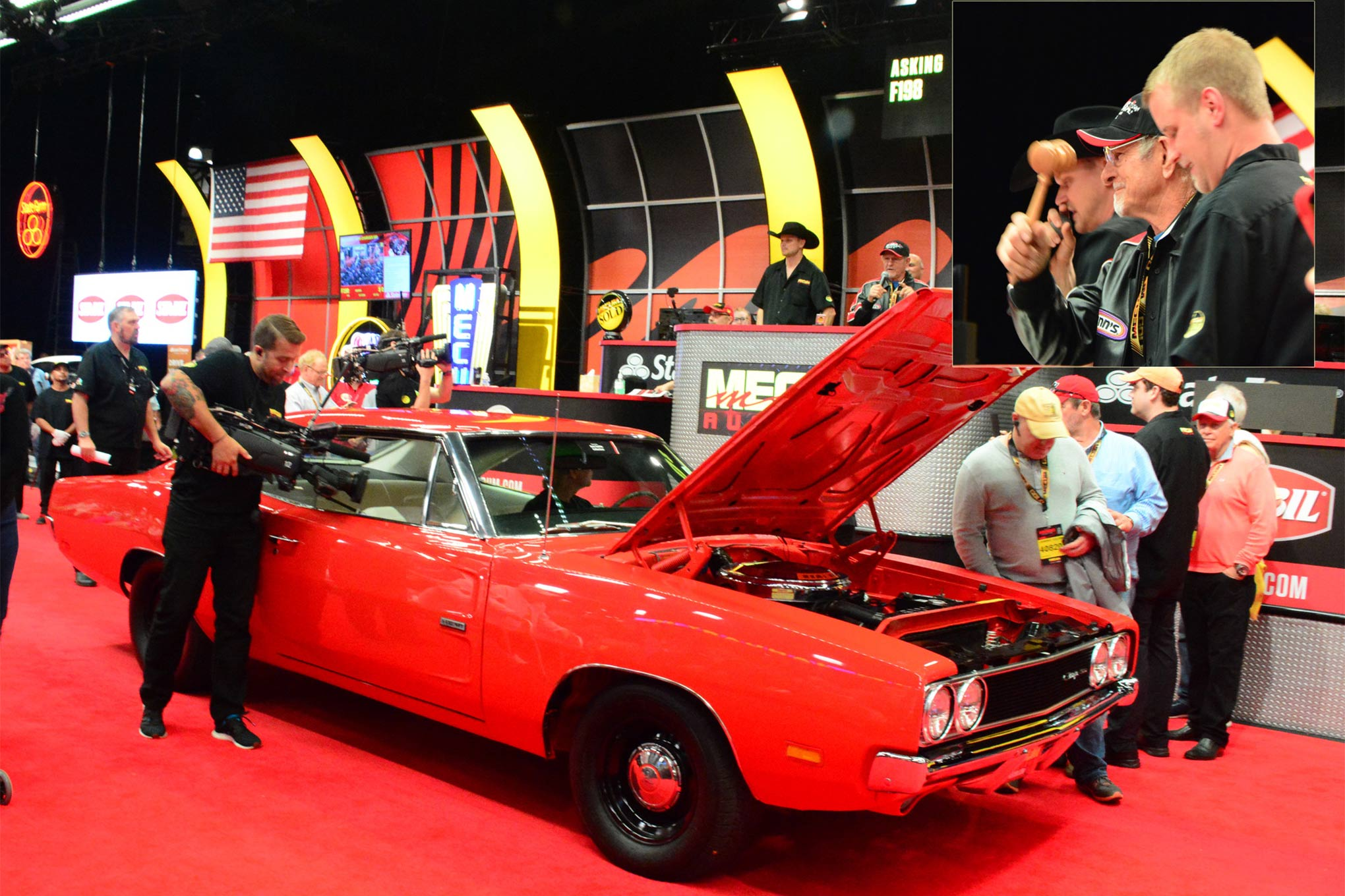 """A highlight for many was seeing Don Garlits help sell his 1969 Hemi Charger 500 on Friday. Big Daddy himself handled the honorary gavel action when the car was called """"Sold!"""" at $155,000."""