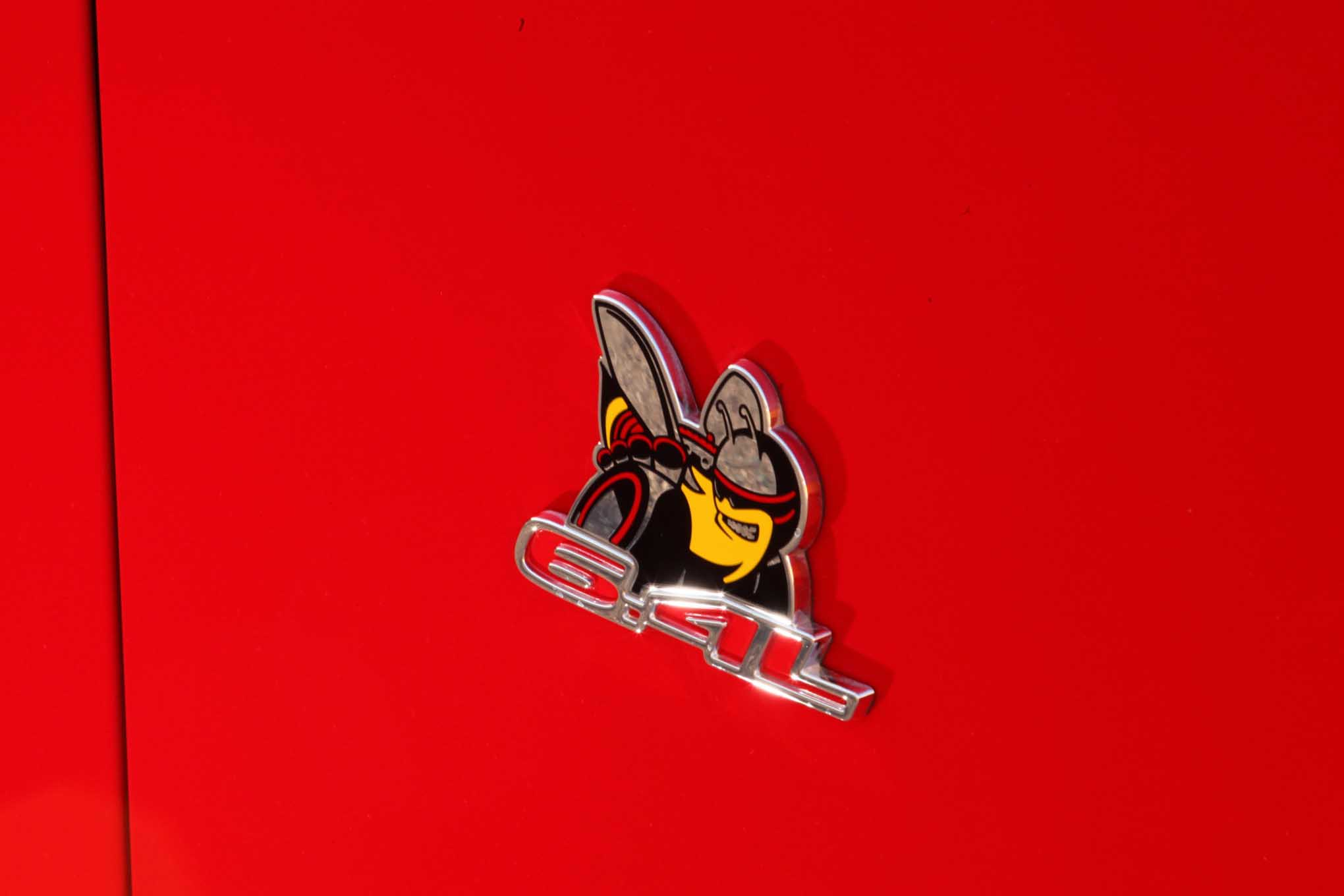 The Scat Pack Bumble Bee is the emblem all Mustang and Camaro guys are beginning to look for before picking a fight on the street! They already know better about the Hellcat.