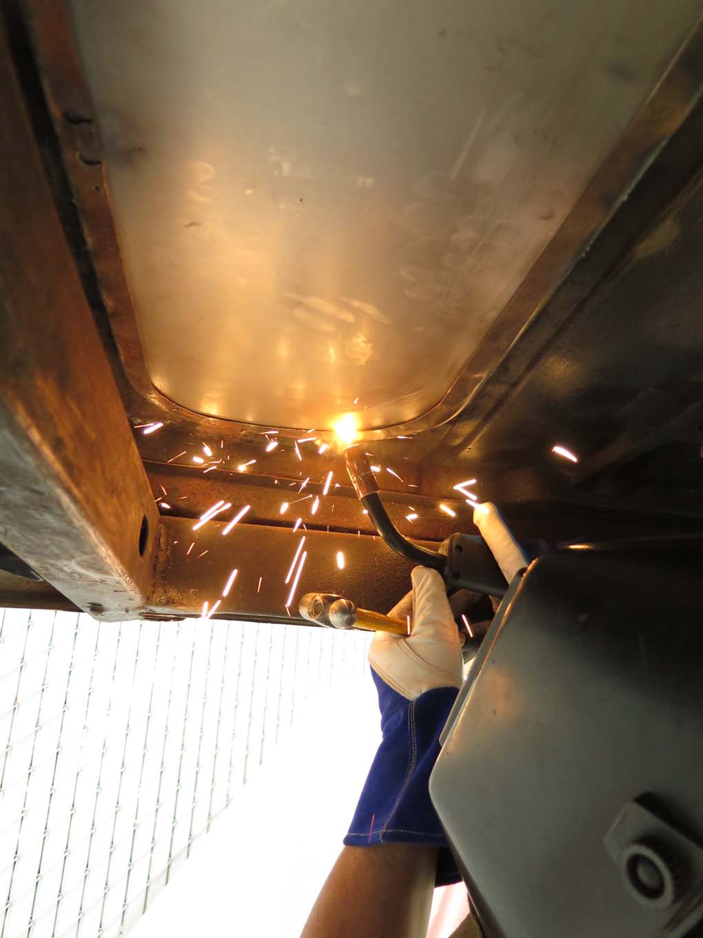 The edge was also welded on the underside in sections.