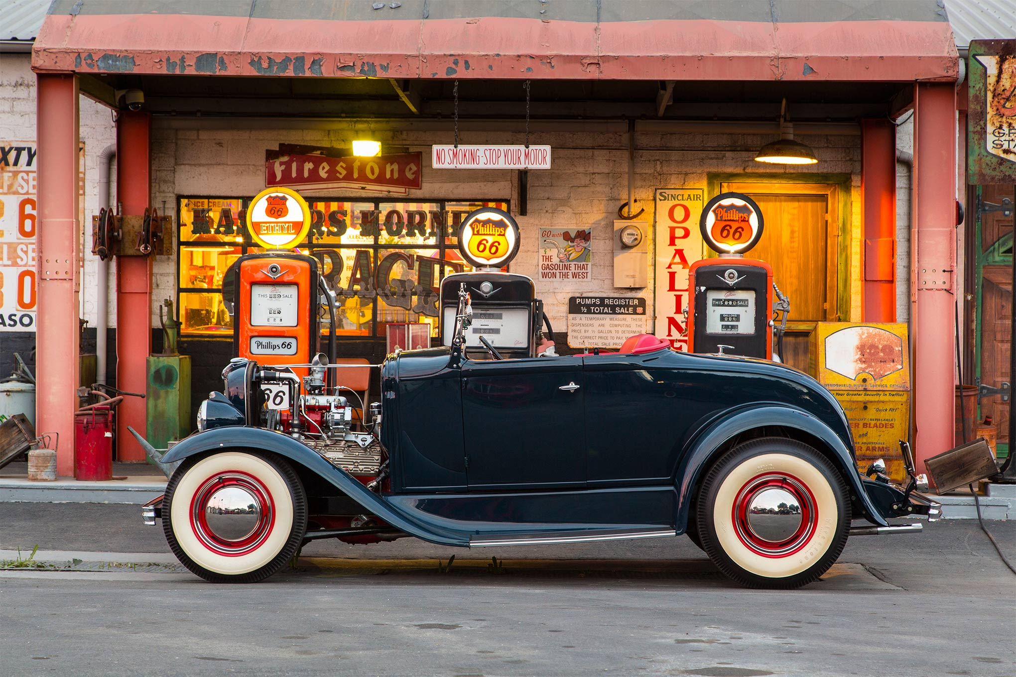 """If someone were to write an illustrated dictionary of hot rodding, Steve's roadster should accompany the term """"stance."""" This car sits right."""