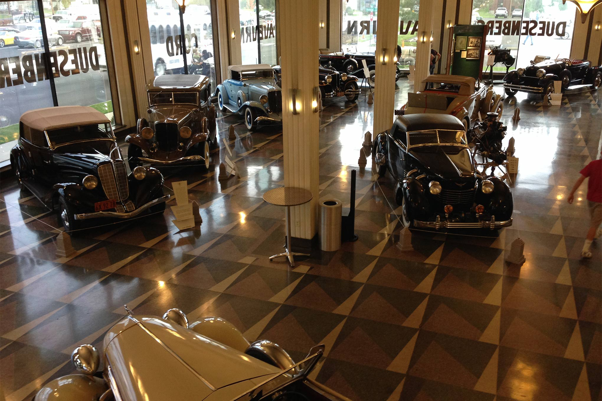 The Auburn Cord Duesenberg Museum, or ACD as it is known in the hobby, houses an amazing collection of classics. The main floor is actually the original showroom for the Auburn Motor Company.