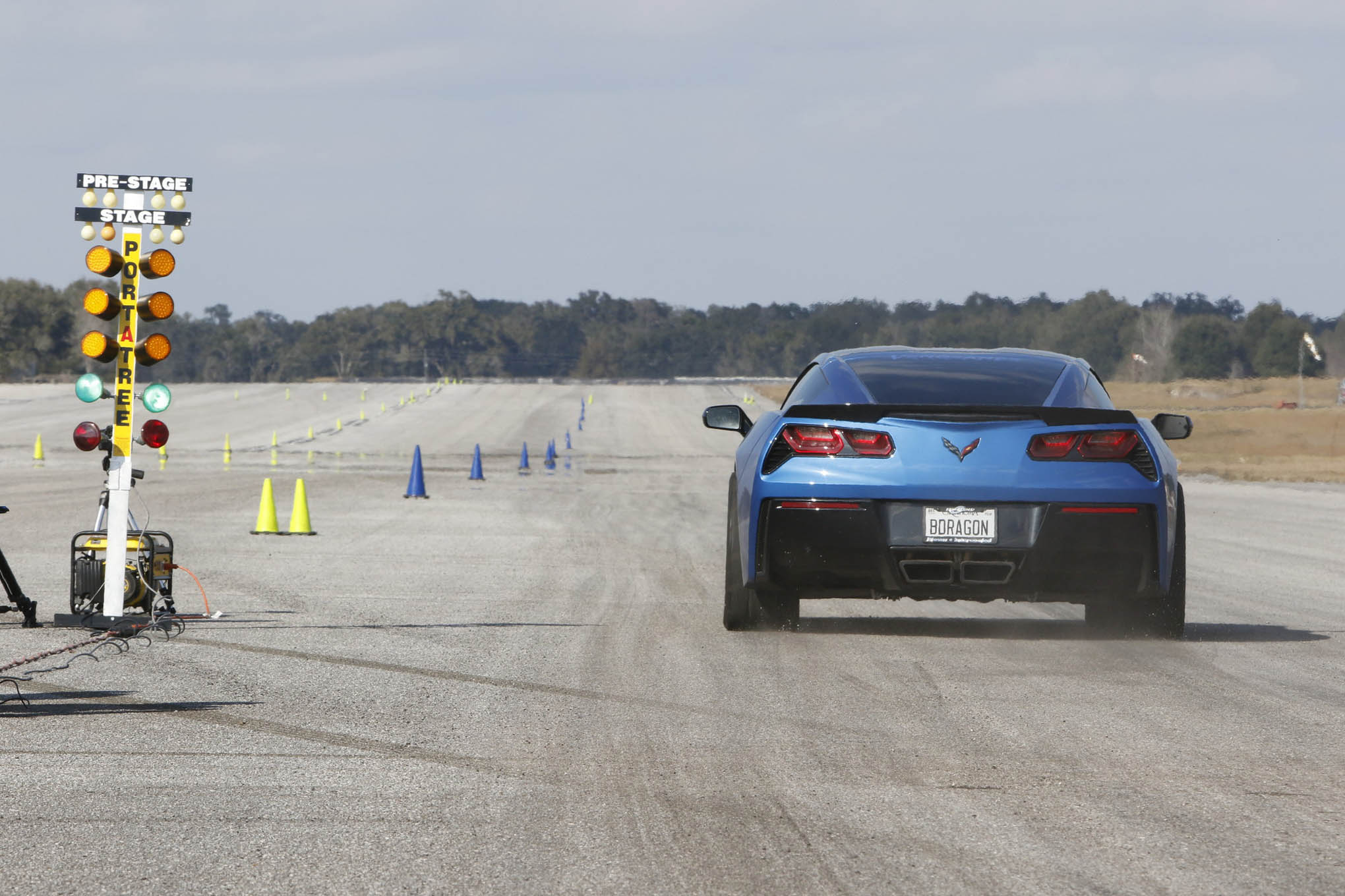 Scotty Willard's 2014 Corvette was packing a 416ci engine boosted with a F-1A Procharger developing 15 psi. Willard ran 161 mph on the pass we saw, but he was looking for more.