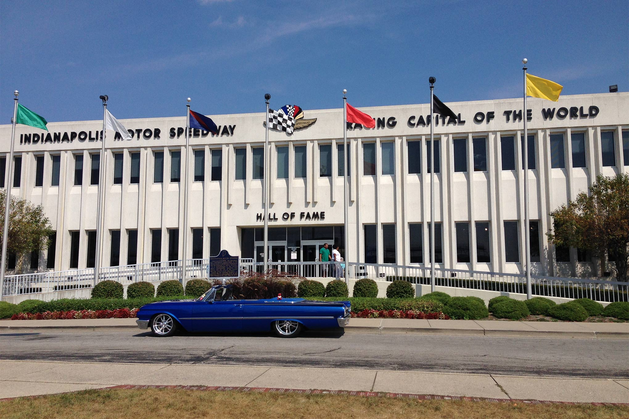 On Labor Day we visited the Indianapolis Motor Speedway and Museum. The track looks even larger when viewed from the infield. The museum contains many of the winning vehicles from past races.