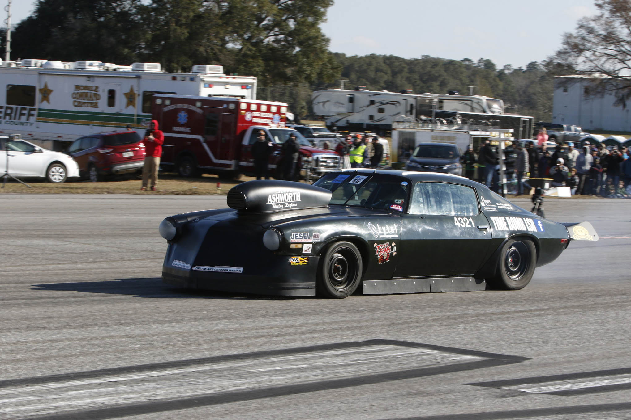 David and Mike Matyjasik made noise with their 1971 Camaro that packs a 364ci small-block. They ran 173 mph in their first attempt at half-mile racing.
