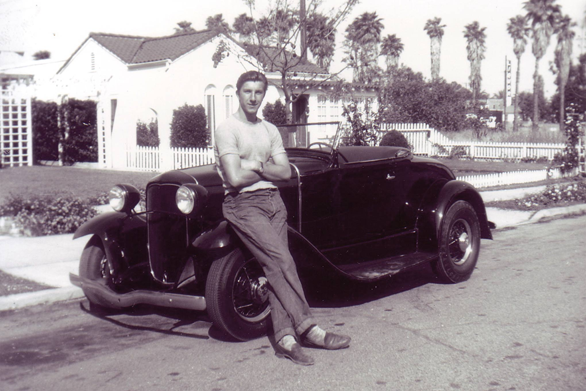 Dick while well-known for his Model A's he built he was also into the iconic 1930 Ford roadster too.