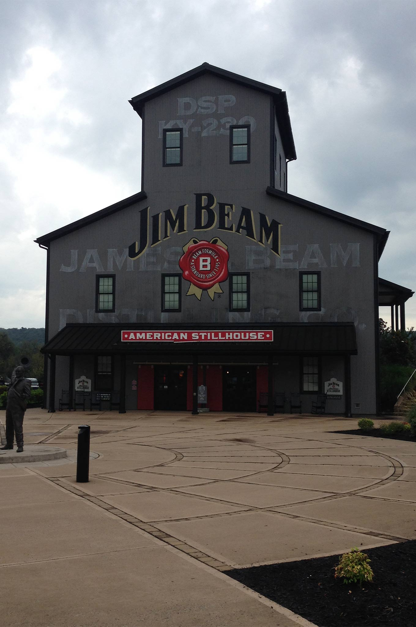 We spent Tuesday evening in Shepardsville, KY, just south of Louisville. Wednesday morning we stopped at the newly remodeled Jim Bean American Stillhouse visitor's center. We took a short tour of the warehouse and got a chance to buy some cool souvenirs for the folks back home.