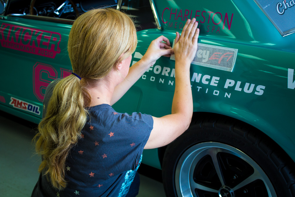 Project Road Warrior is more than just Courtney's daily driver; it's also how she makes a living by providing exposure to the many sponsors that she has through Team Mustang Girls