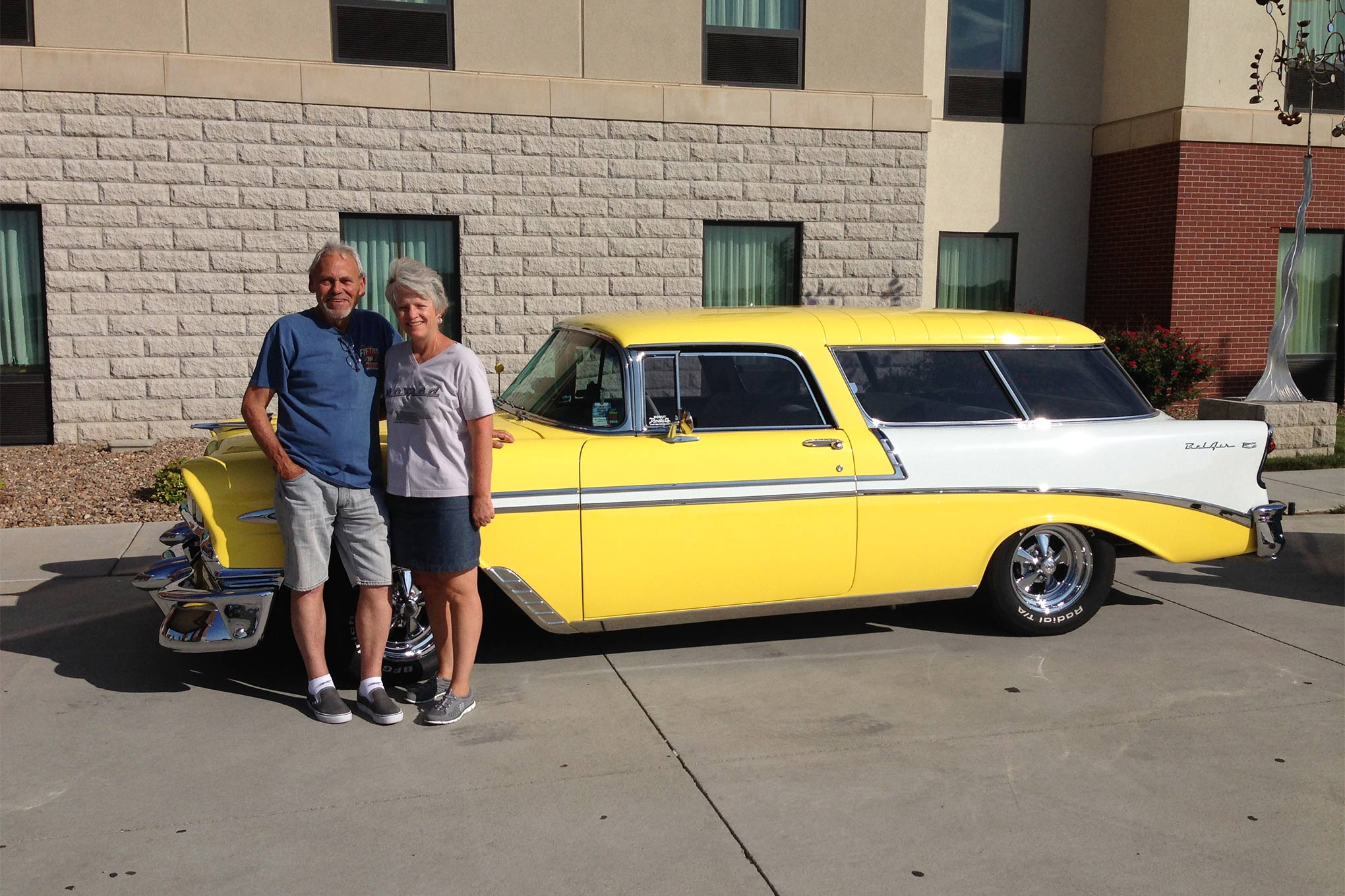 Dana and J.D. Stevens are from Lakeside, CA. They drove their 1956 Chevy Nomad. Dana and J.D. are the first repeat participants as they also met the Challenge in 2012.