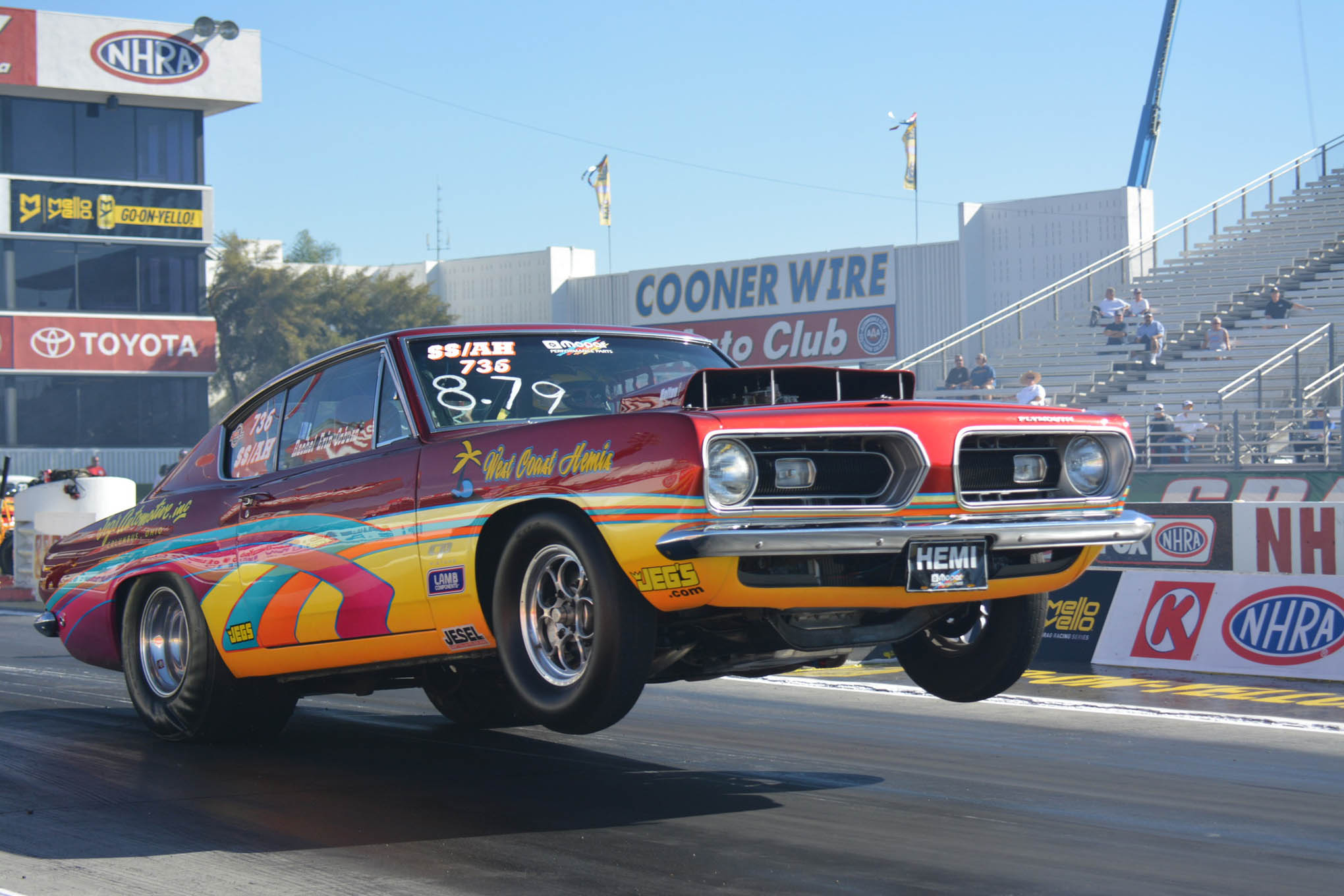 It's not the Winternationals without a '68 Super Stock Hemi Barracuda, and Michael Ogburn's stunning example reinforces how cool these cars are.