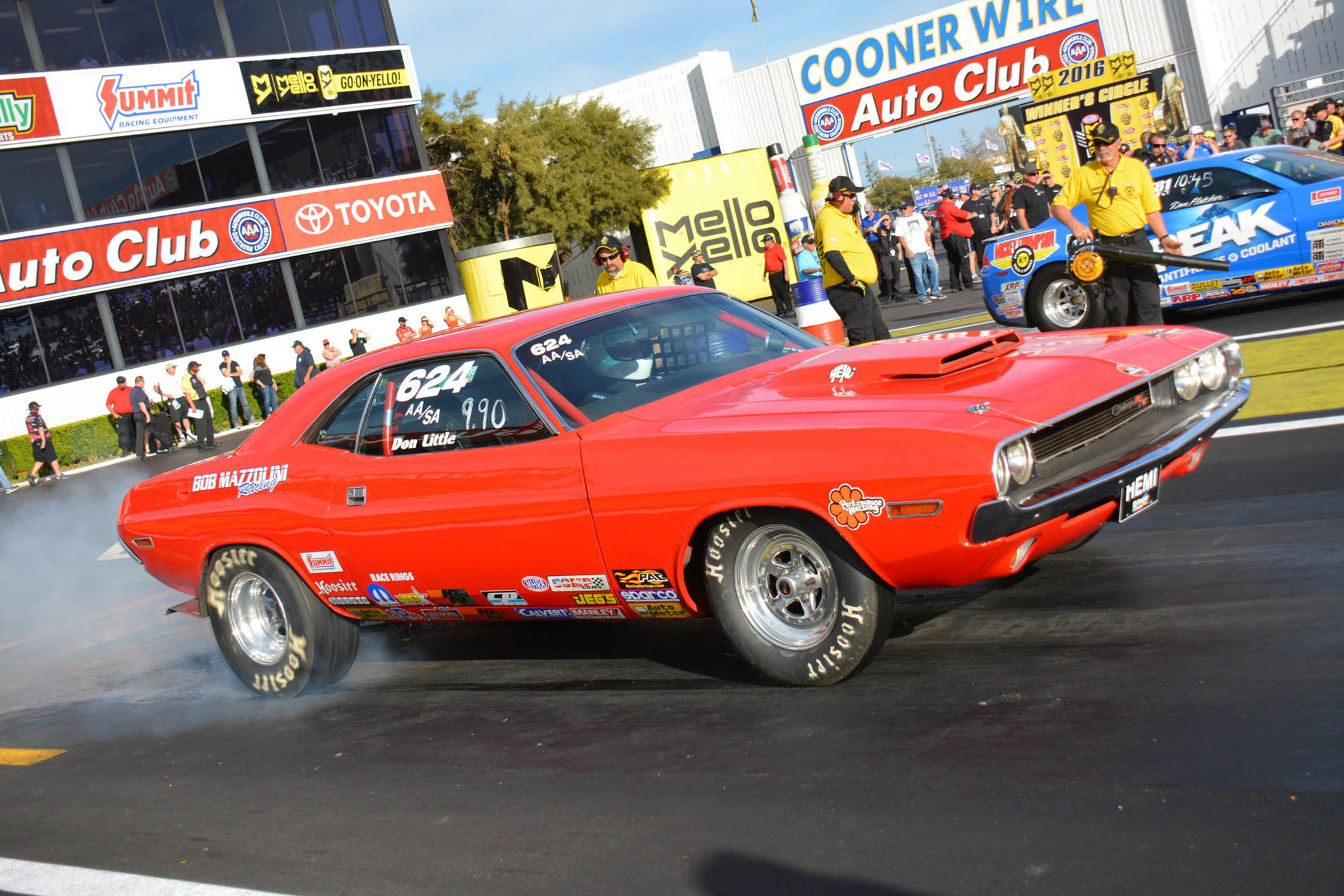 Veteran racer and multiple event winner Don Little was the last Mopar standing in Stock Eliminator. His Hemi Challenger made it to the finals only to breakout by a sliver.