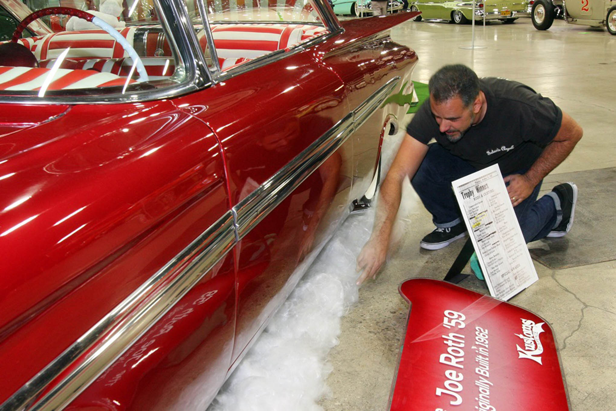 Here's Marcus Edell's 1959 Impala historic custom show car. It was originally built by Joe Roth in Wisconsin in the early '60s, then resurrected a few years later. Today, with help from Jeff Spence at Kustoms By Spence, it is preserved in its early '60s form.