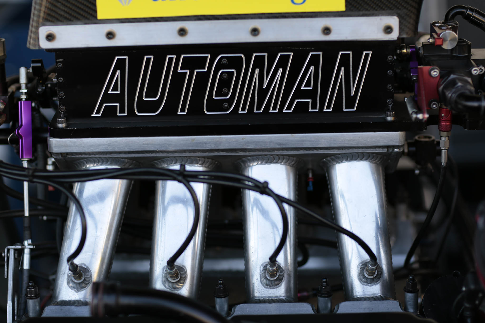 There are two rectangular butterflies in the Automan throttle body.