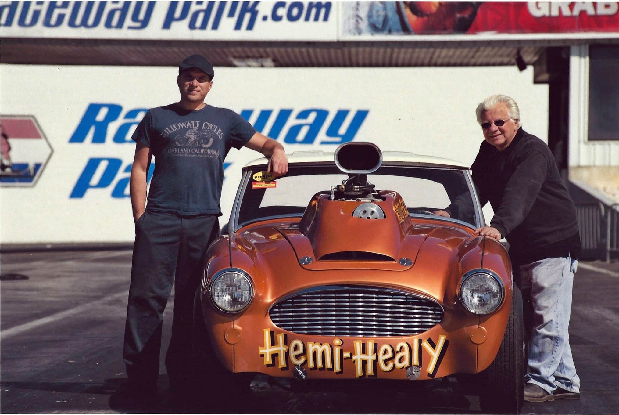 Father and son enjoy a little together time with the Hemi Healy.
