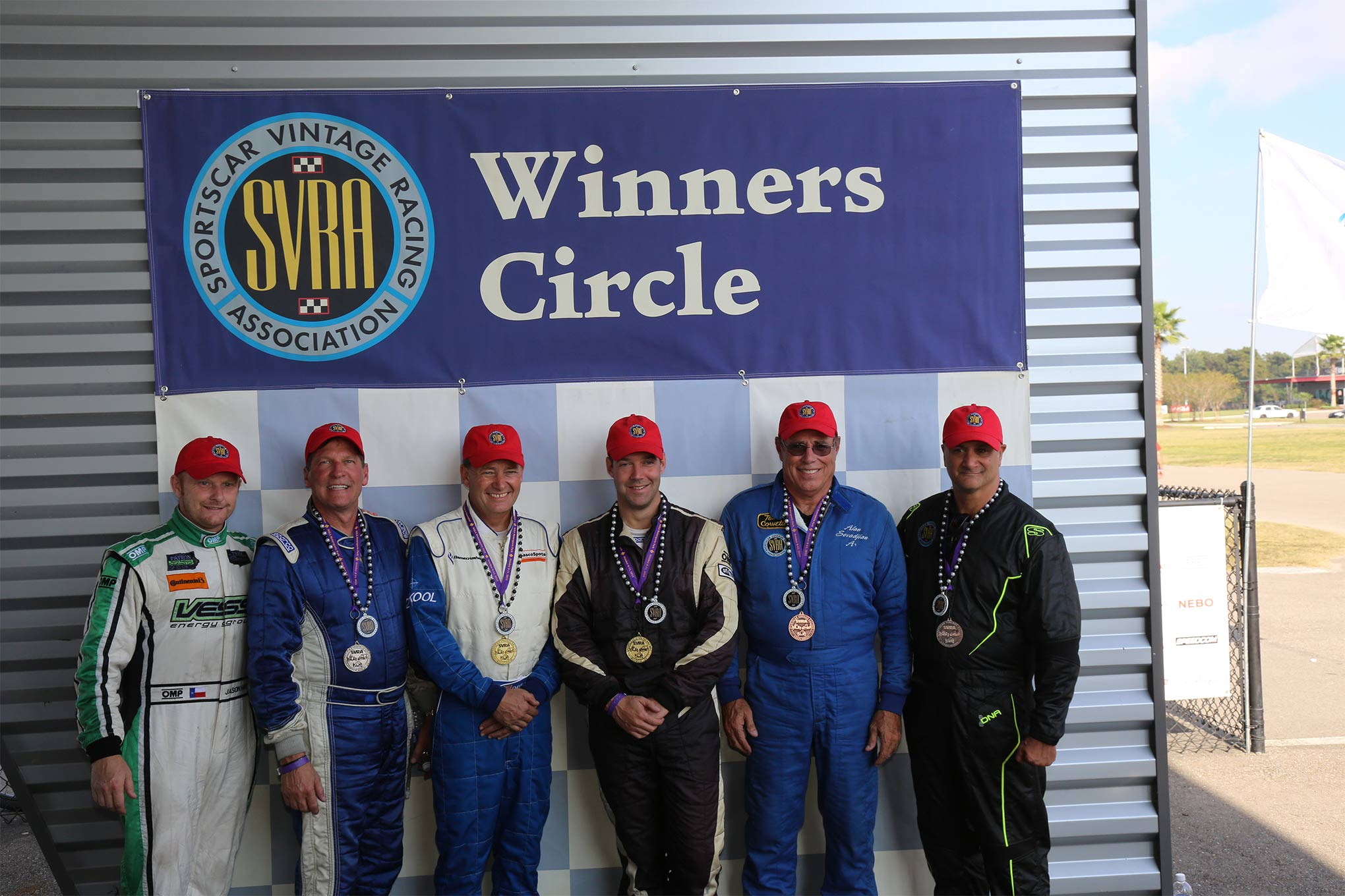 Tony Parella/CEO & President of the SVRA (far right) celebrates an event