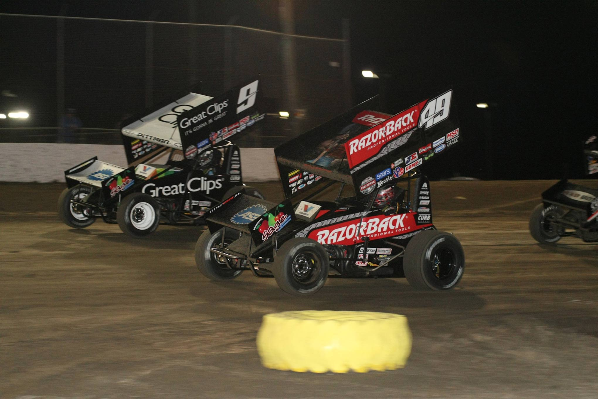 Sweet and Pittman battled through most of the A Main