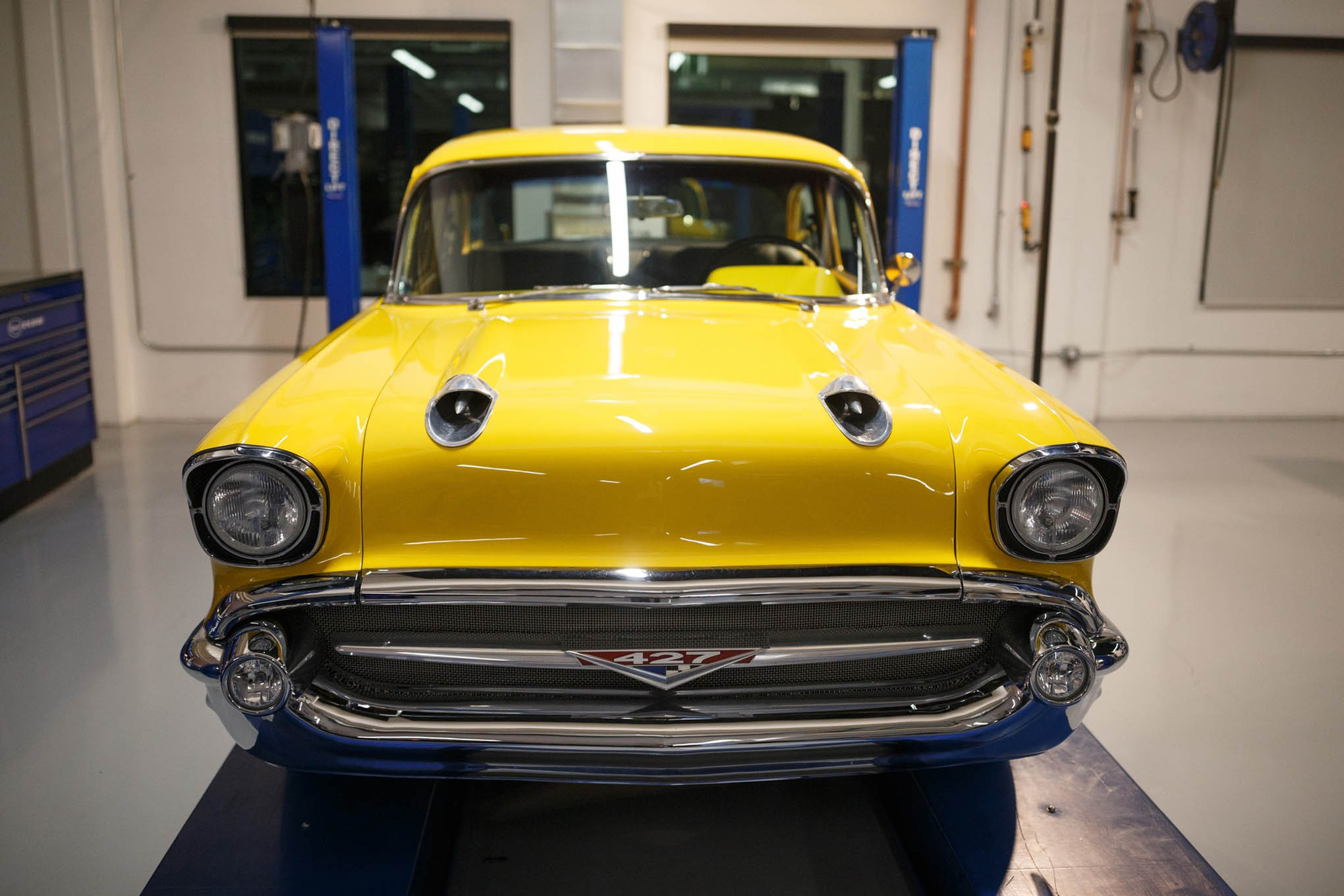 The legendary Project X 1957 Chevy was on display in the back of the Tech Center. HOT ROD recently inherited the car from Popular Hot Rodding. Thom Taylor already has some ideas swirling around his brain about what to do with the car next.
