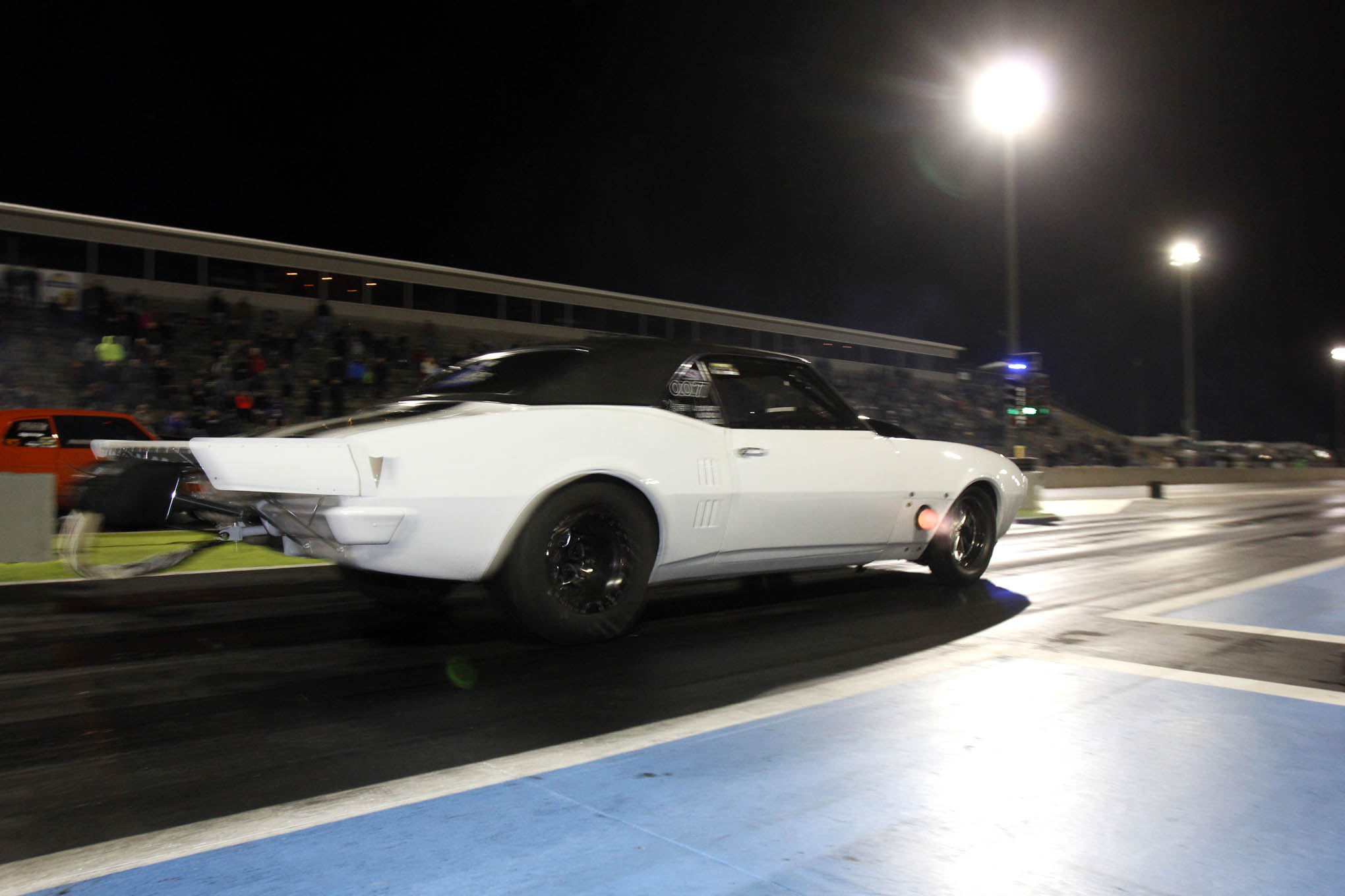 Also in X275, we liked this 1968 Firebird, driven by Charlie Johnson of Grand Ridge, Florida. The 582 big-block Chevy was built by Jay Kite Racing engines with a Dart block and Brodix heads. Johnson qualified in the No. 8 position and made it the second round of eliminations, losing to Jacky McCarty.