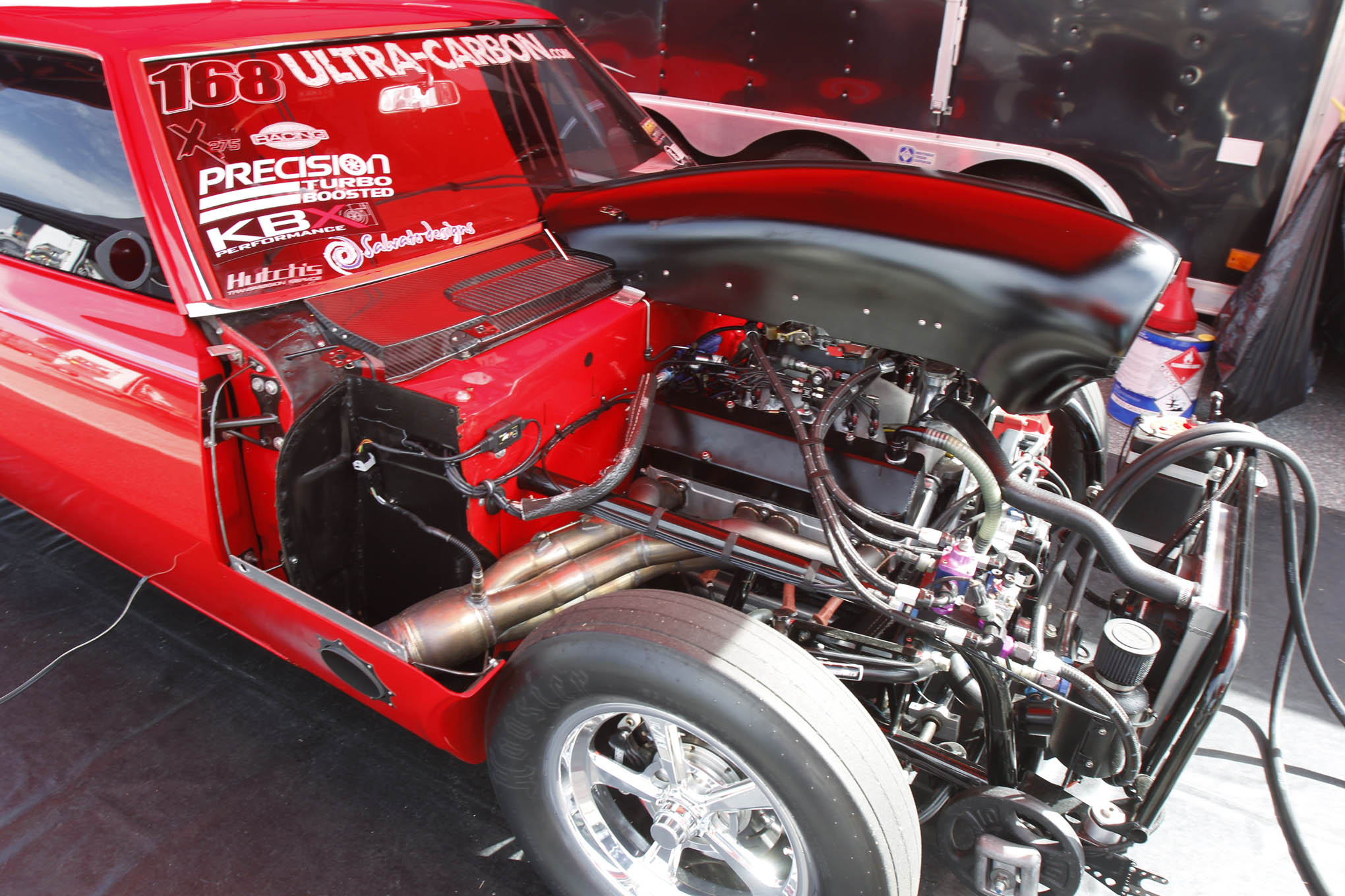 Ron Rhodes was the surprise winner in X275, taking out Rob Goss in the finals. The leaf-sprung Camaro is powered by a 468-inch small-block Chevy with nitrous from Induction Solutions.