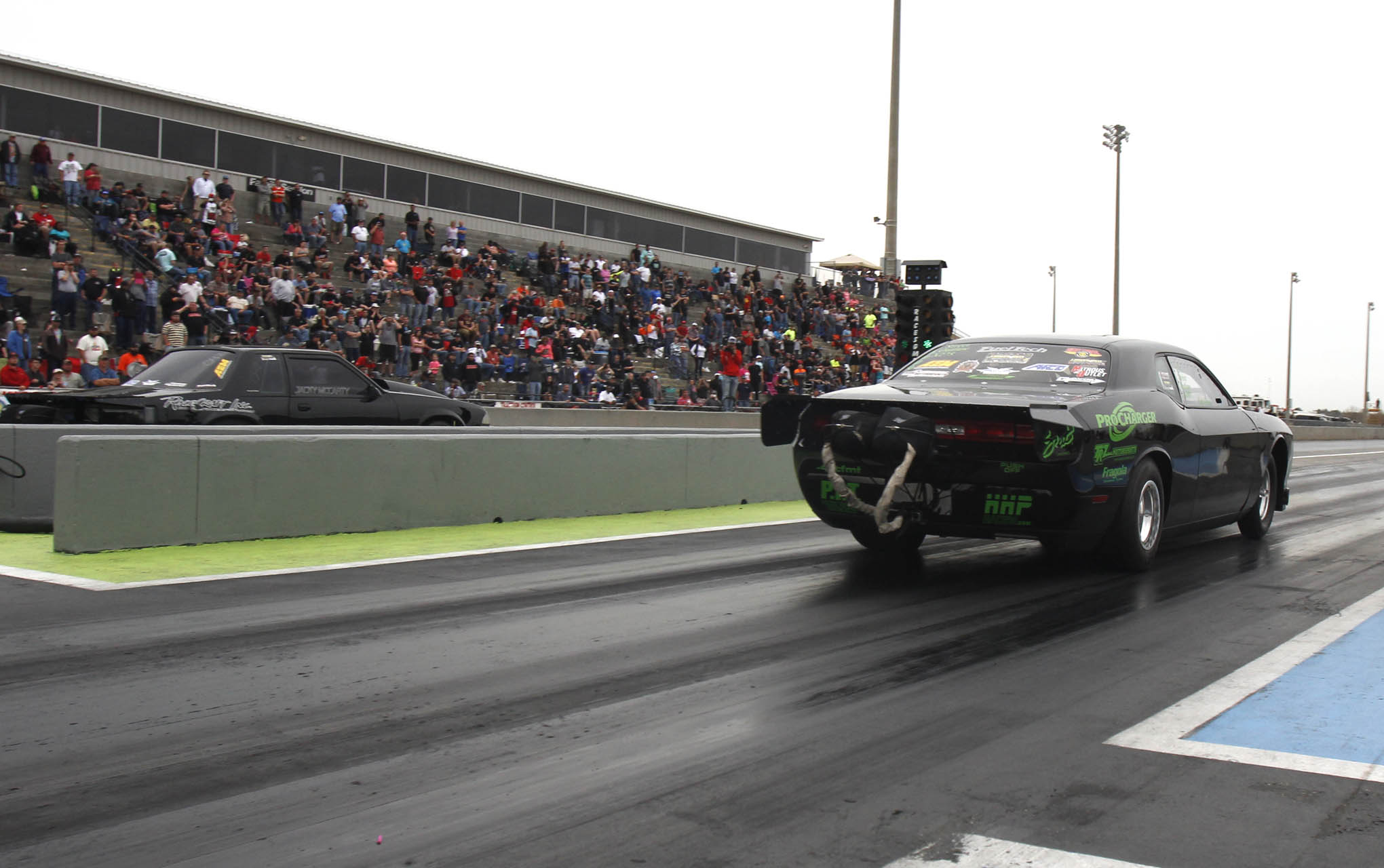 Rob Goss had the car to beat in X275. His 2009 Challenger posted a record e.t. in qualifying and dominated the field up to the last round of eliminations, where he lost to Jacky McCarty, destroying the engine in the process.