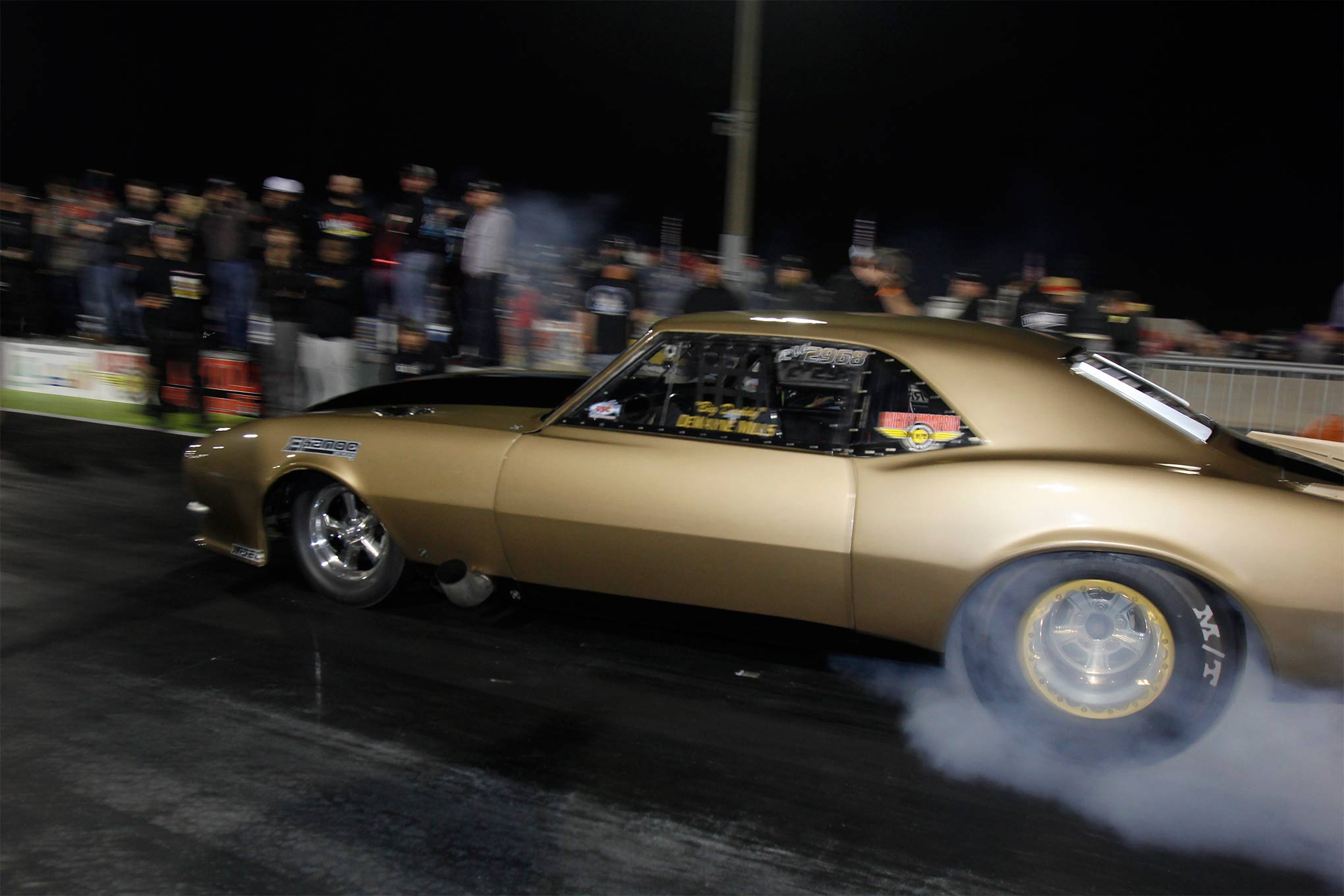 DeWayne Mills in his twin-turbo 1968 Camaro made the quickest pass of Thursday night's qualifying session. His 3.90 run was good enough for a No. 3 qualifying spot.