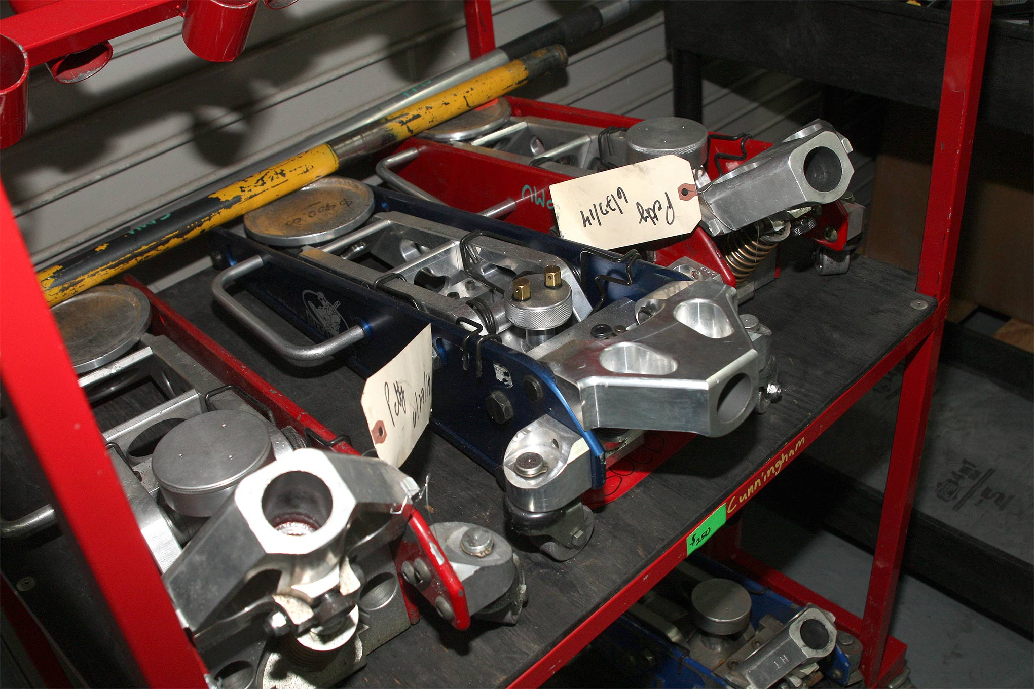 Everyone can use another jack in the shop or pit cart. These aluminum race jacks were going for $250.