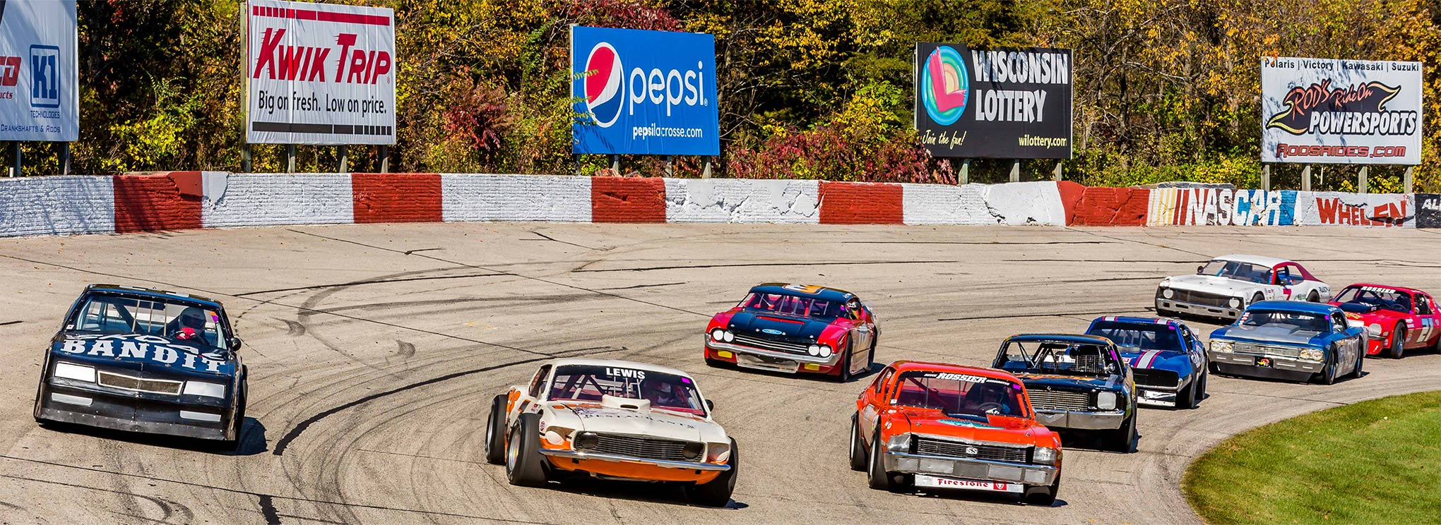 There is plenty of action in the Upper Midwest Vintage Racing Series. Although they race respectfully and refrain from contact, there is no shortage of intense racing.