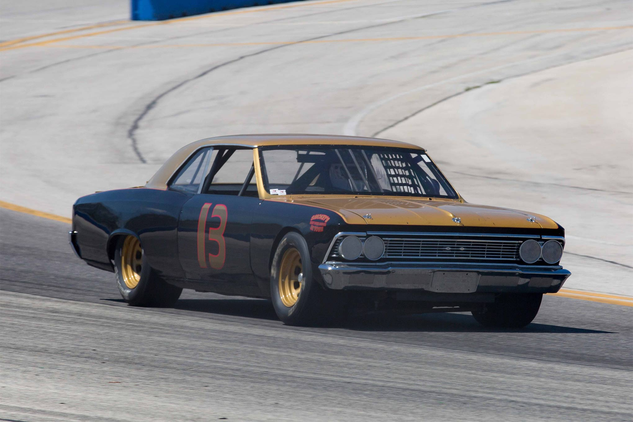 Kenny Hutchens has had a few tribute cars. Most recently, he has raced the Harry Gant #33 and the Darrell Waltrip #88. Here is his Smokey Yunick tribute car in action at the Milwaukee Mile