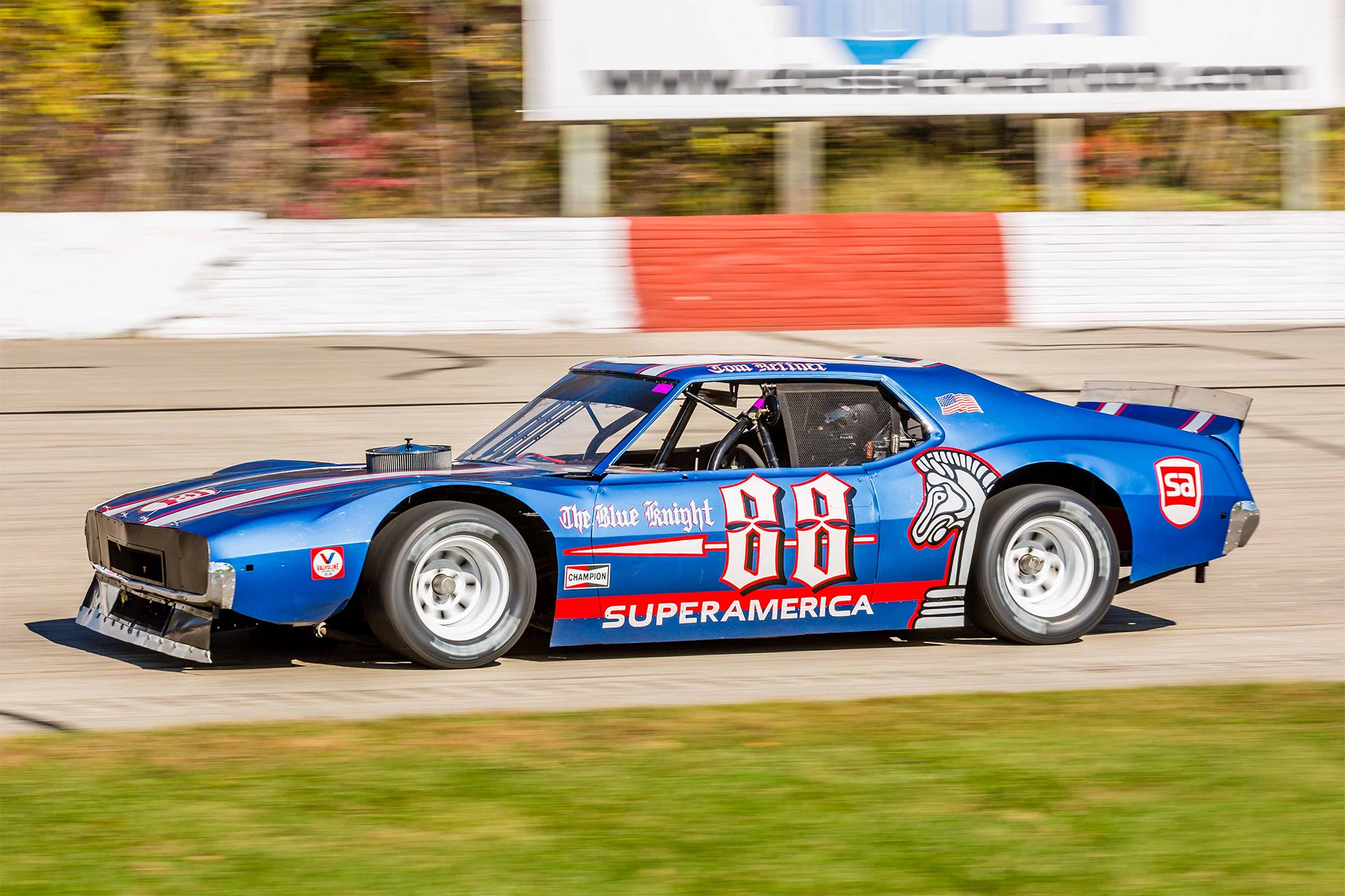 Johnny Gilbertson's Blue Knight tribute. The '74 Javelin was one of the faster cars at Oktoberfest.