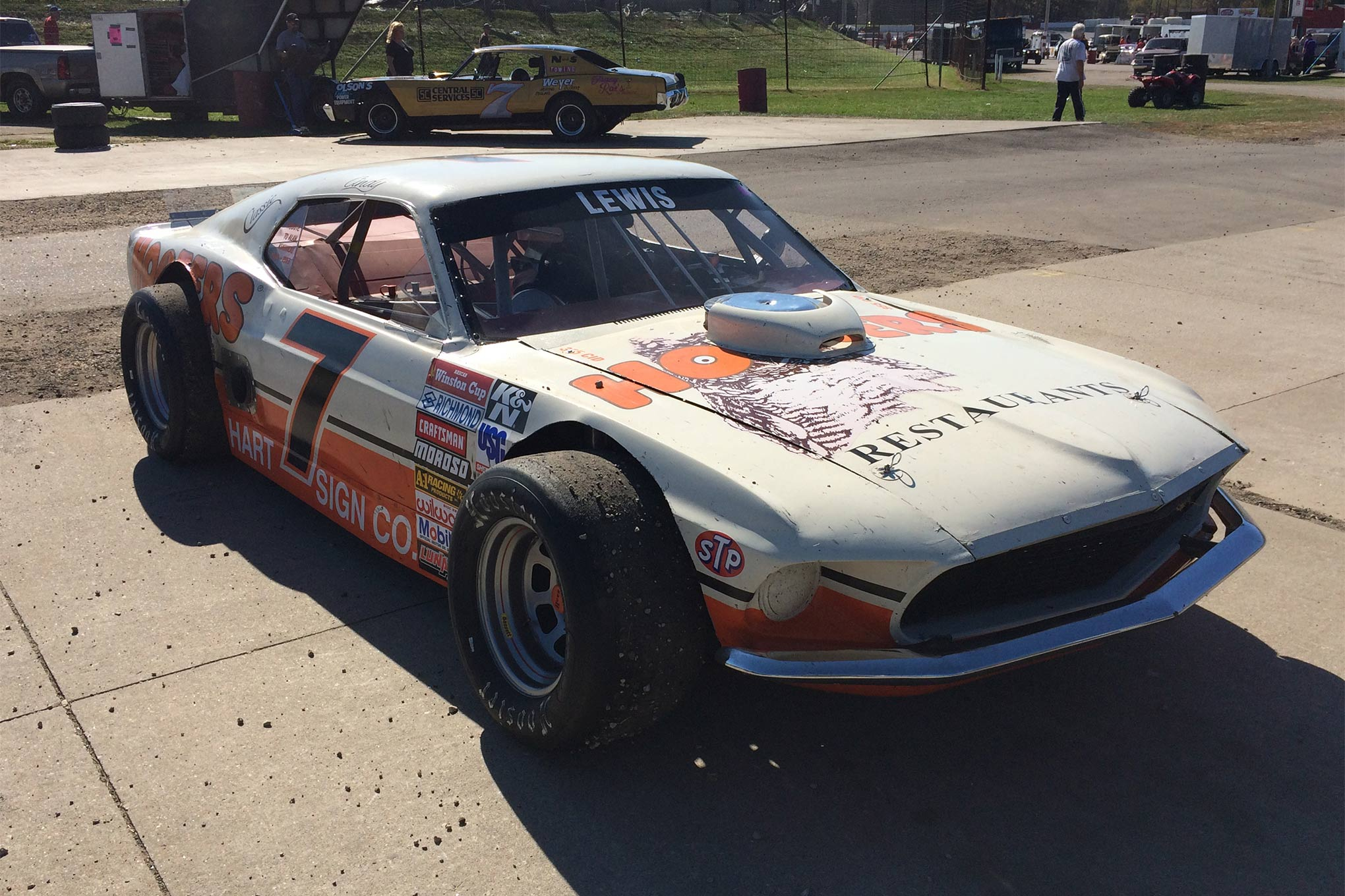 Alan Kulwicki might not have had this look, but that's an awesome ride that belongs to Ken Lewis.