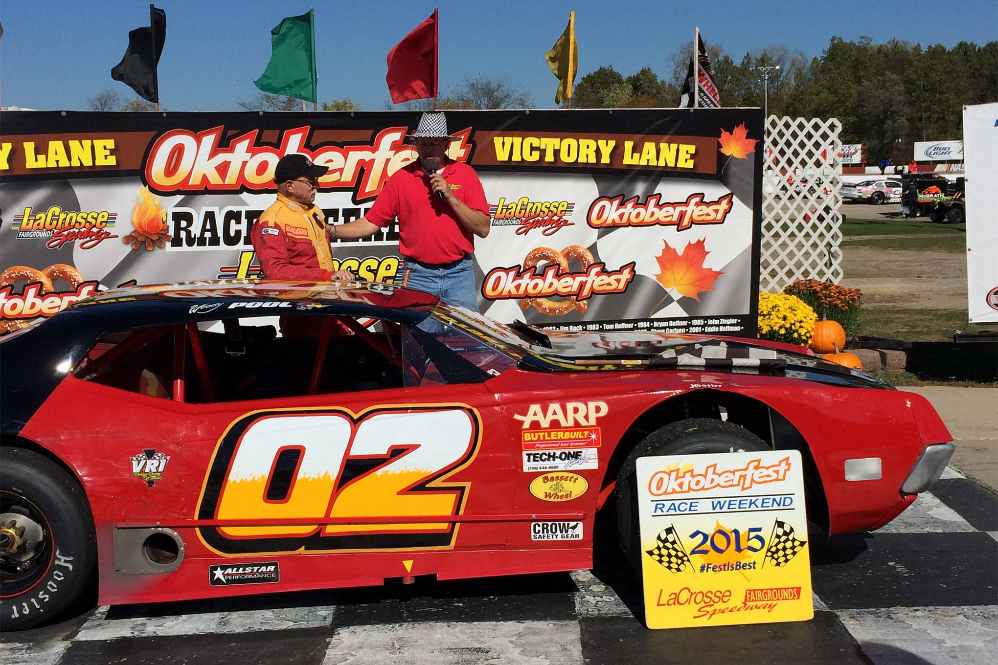 Long time racer Woody Pool picked up the win at Oktoberfest. That AARP sponsorship didn't slow him down one bit.