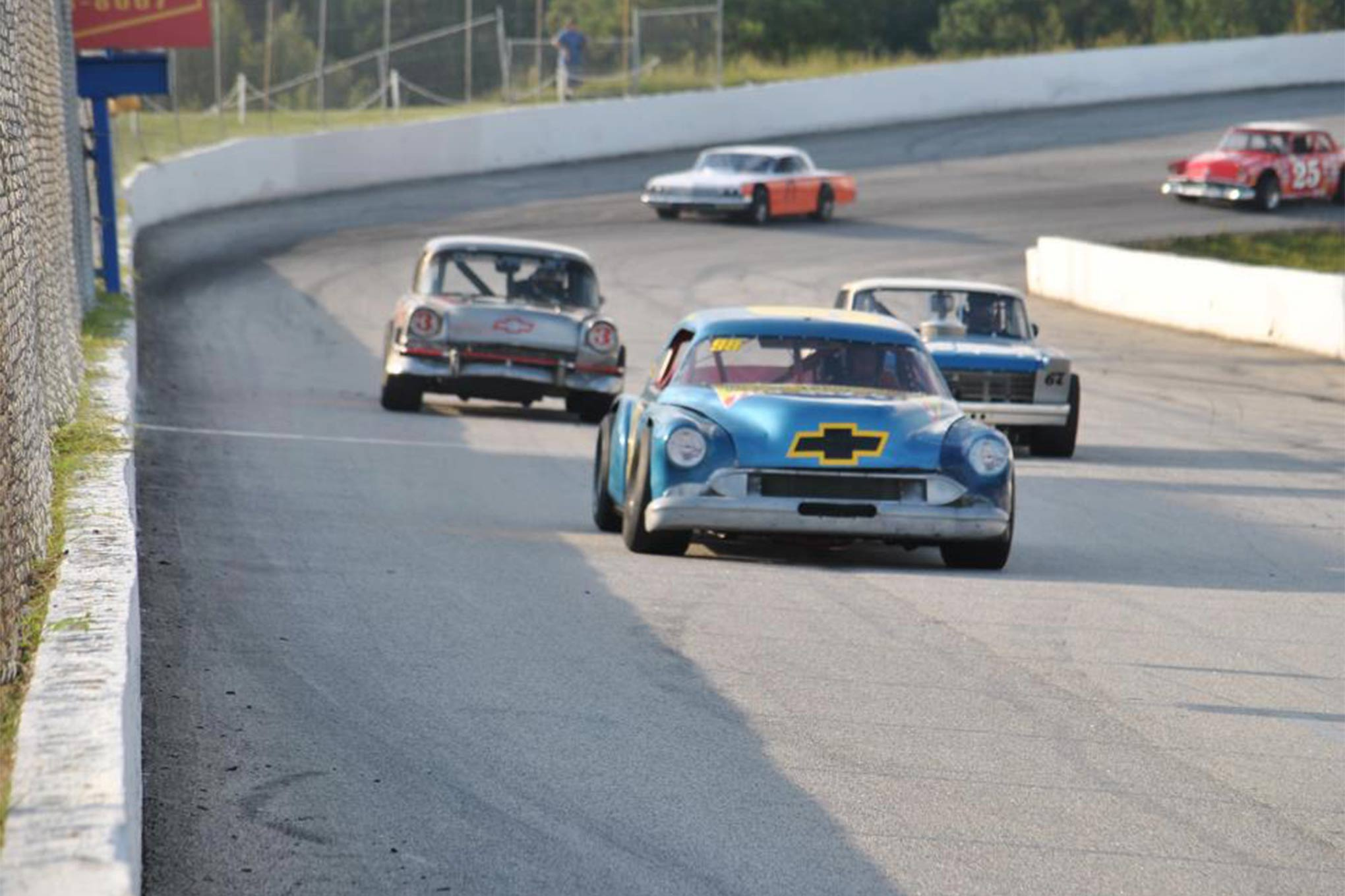 The Carolina Vintage Racers might not have a ton of rules, but they want to see close racing. The fans are usually pleased with what they see out of the group.