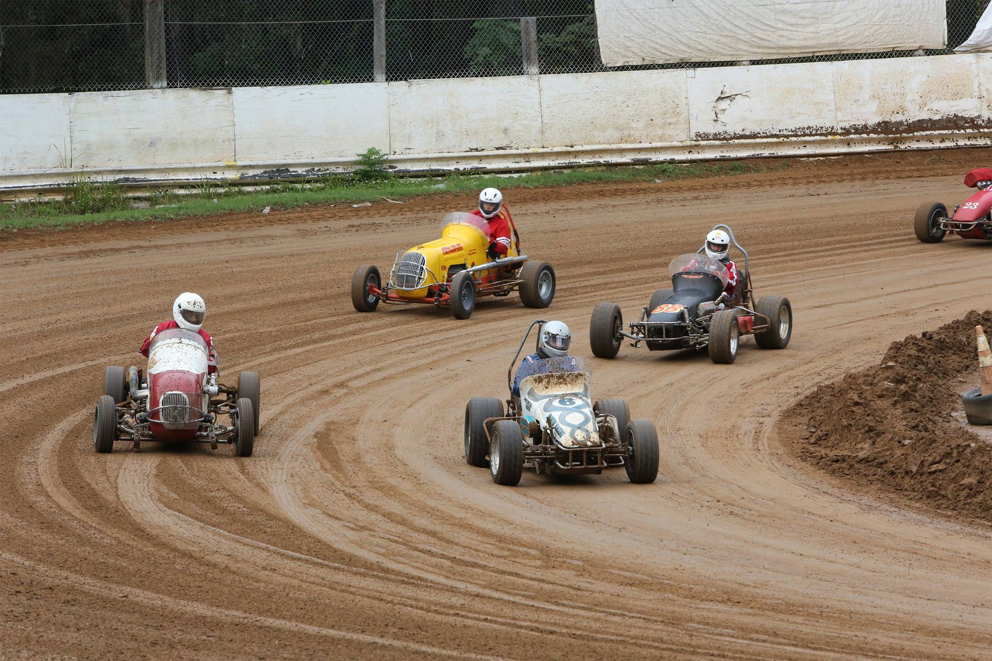 The Daytona Group has separate divisions for antique Sprint Cars and Midgets. Seeing as how these drivers are exposed, it's no wonder why the group is very strict about avoiding contact.