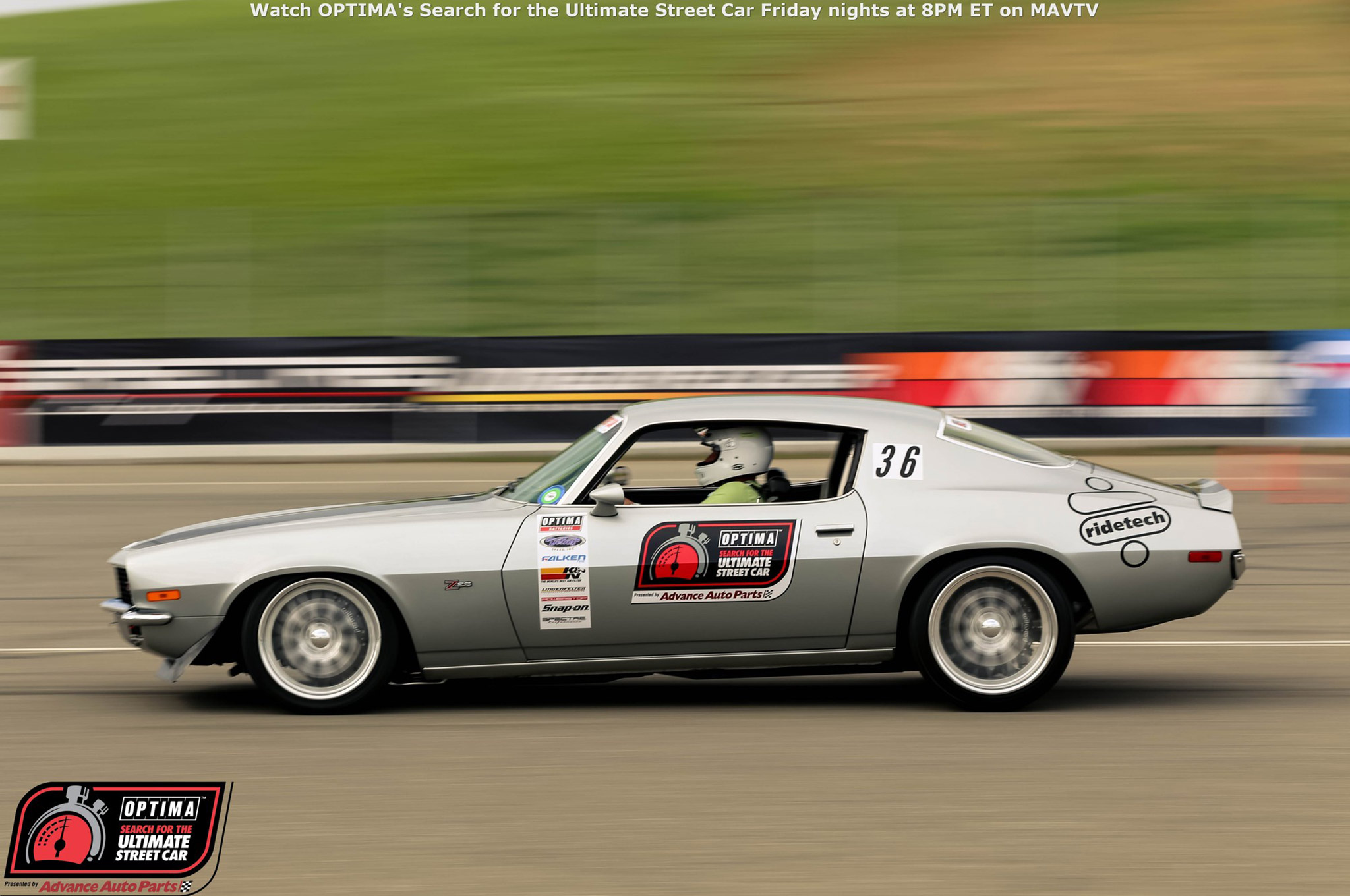 Bryan Battaglini's 1970 Camaro finished 18th in the GTV class, including an impressive Third Place overall finish in the Lingenfelter Design & Engineering Challenge.