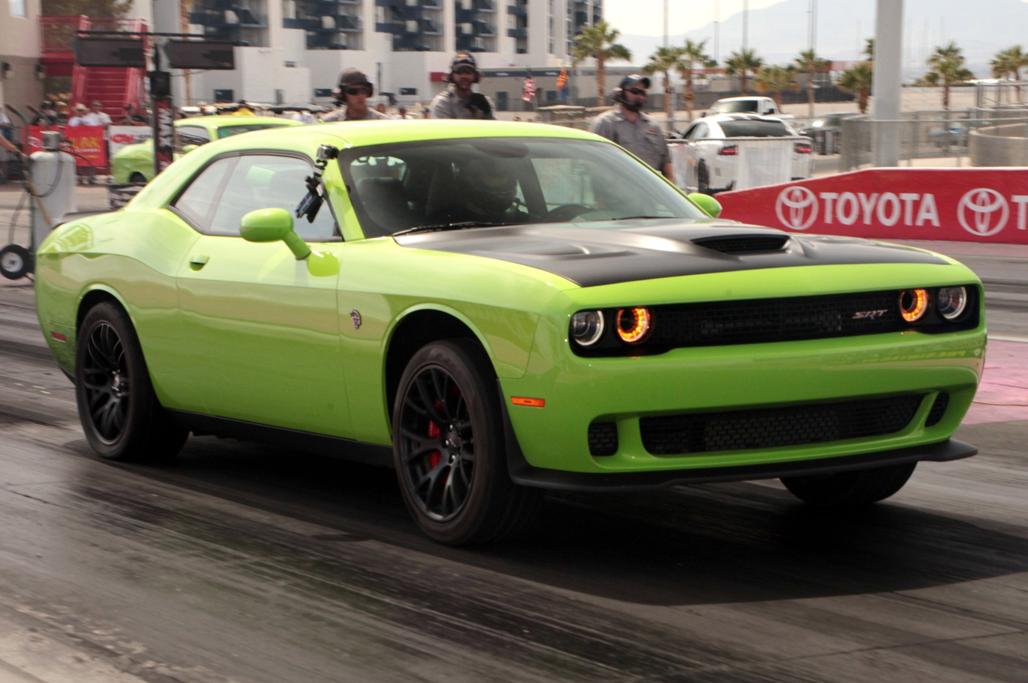 Number-two qualifier Josh Mitton and his Sublime Pearl 2016 Challenger Hellcat carried our GoPro camera for the Hellcat Challenge highlight reel video. Bill Ewell took him out in the semi-final round when Mitton slowed to a tire-spinning 11.81.