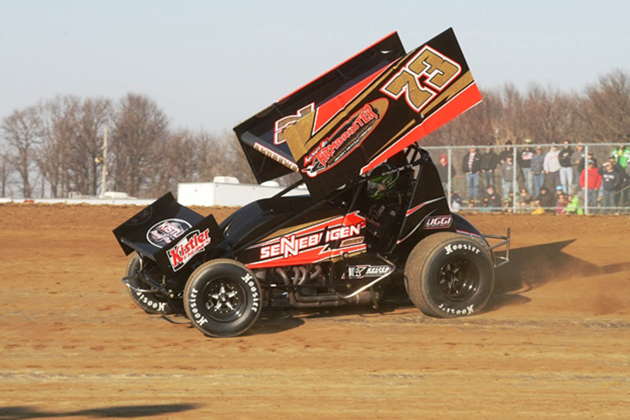 Chris Andrews set fast time in the 410 Sprint Cars.