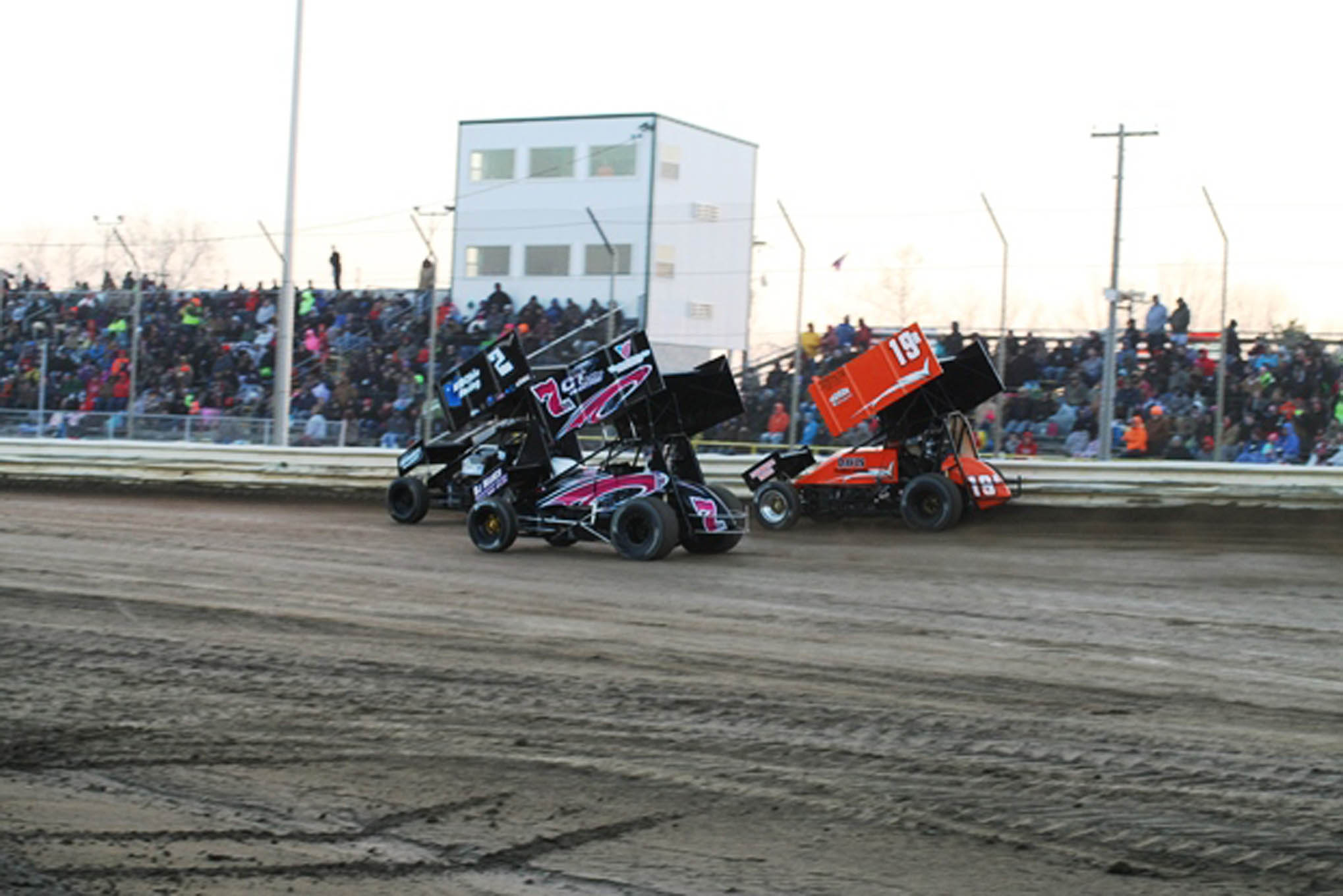 A good crowd was on hand to watch the opener at Attica.