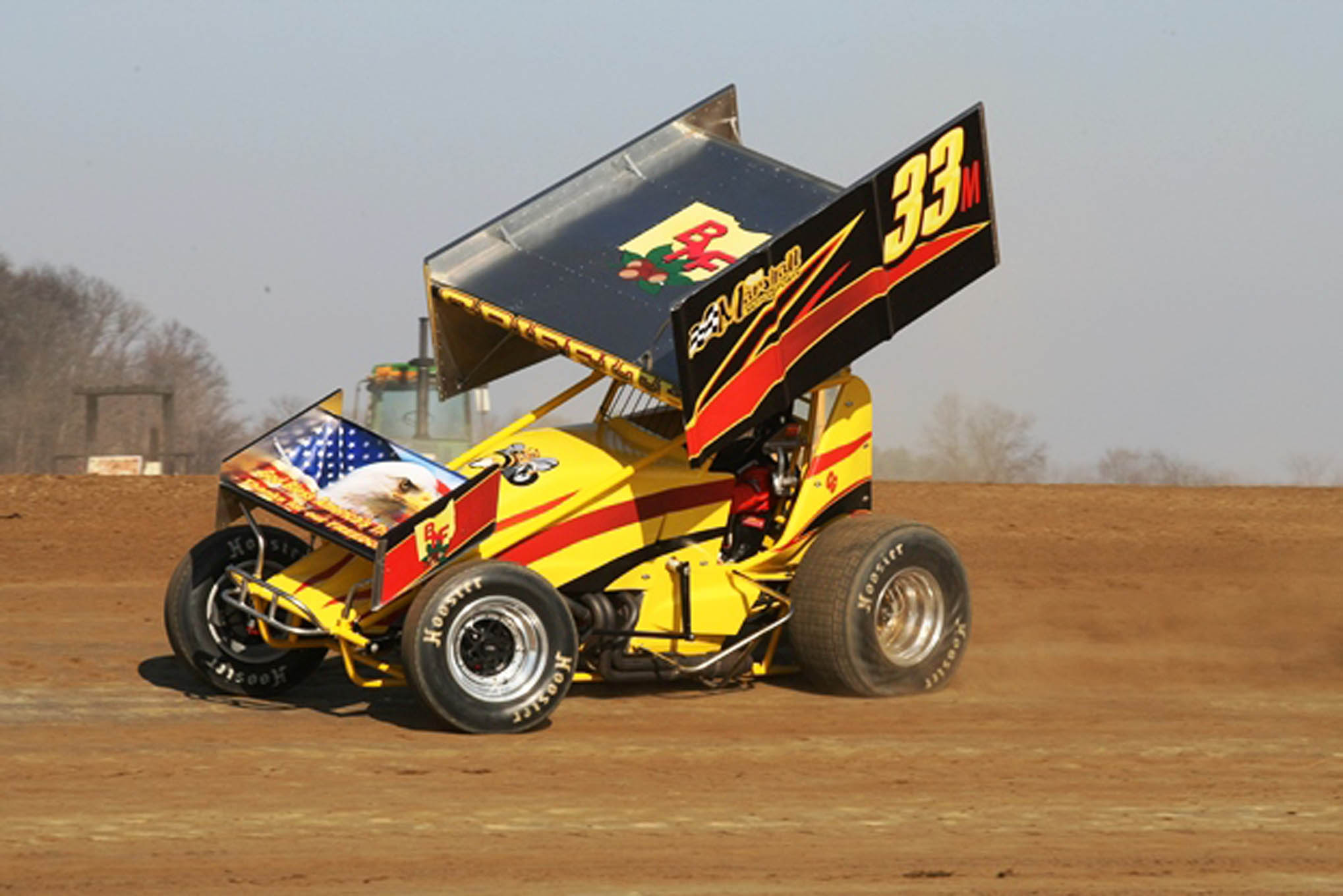 Caleb Griffith takes his timed trip in his 410 Sprint.