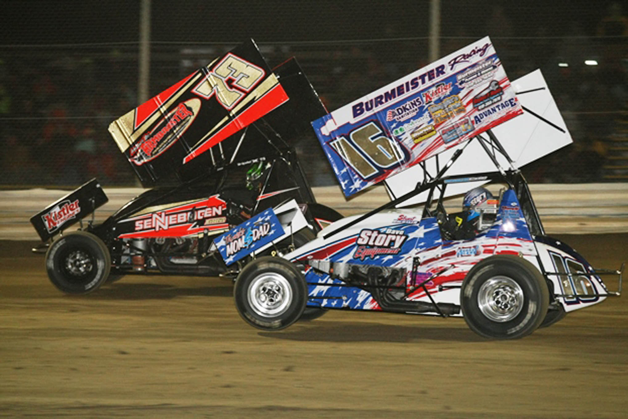 Brubaker and Andrews battle in the Top Five of the A Main.