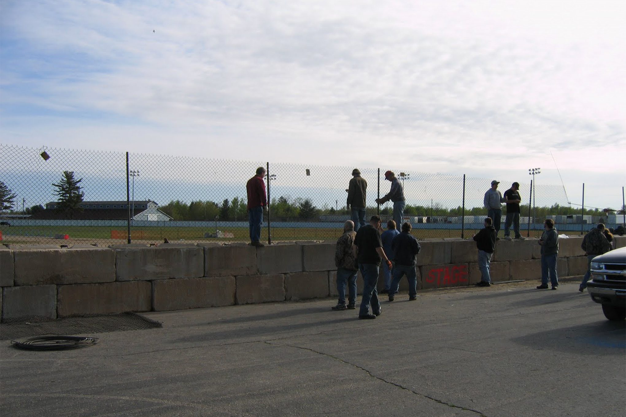 Many volunteers were on hand to help bring racing back to Escanaba.
