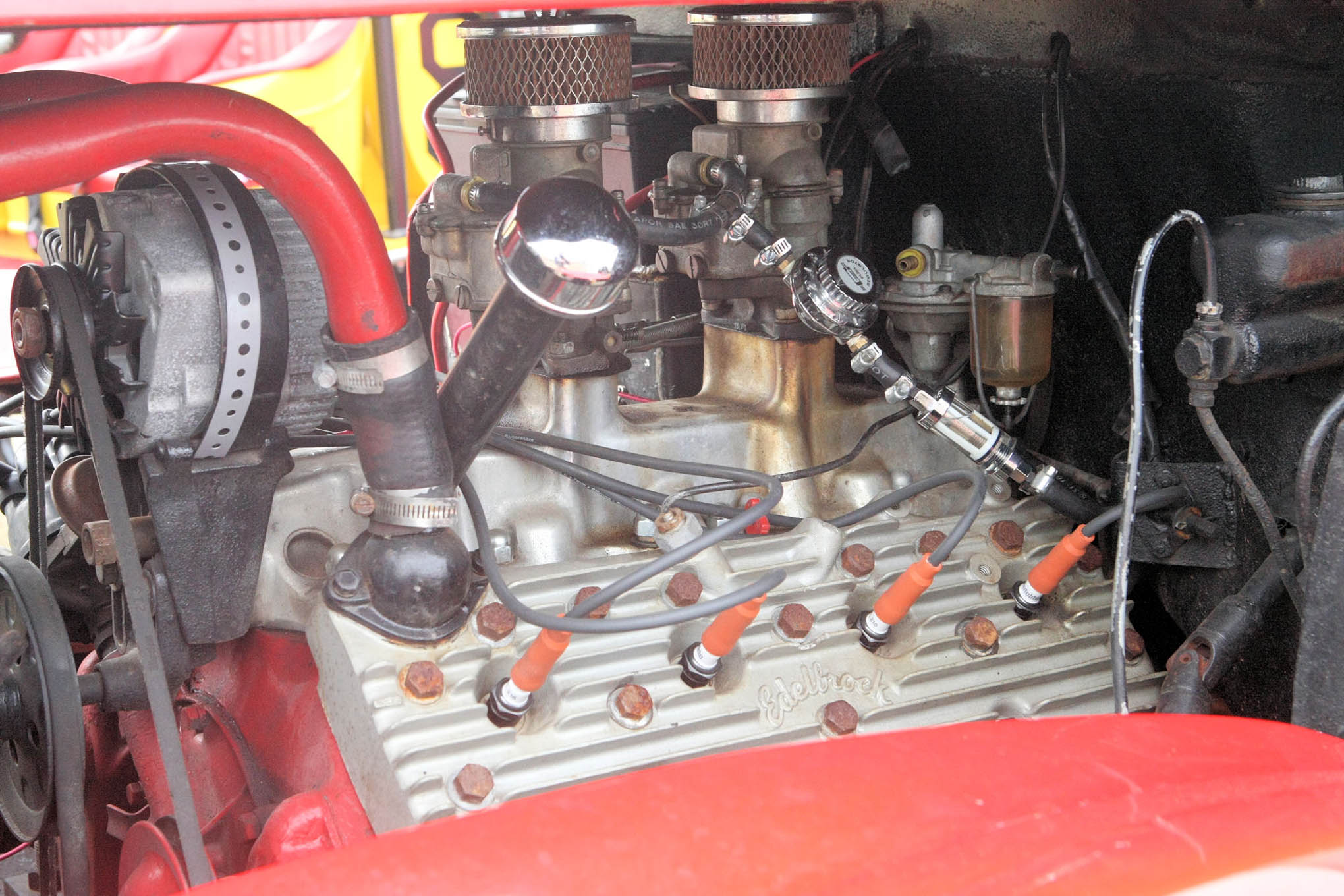 The once very popular Ford Flat Head Engine.