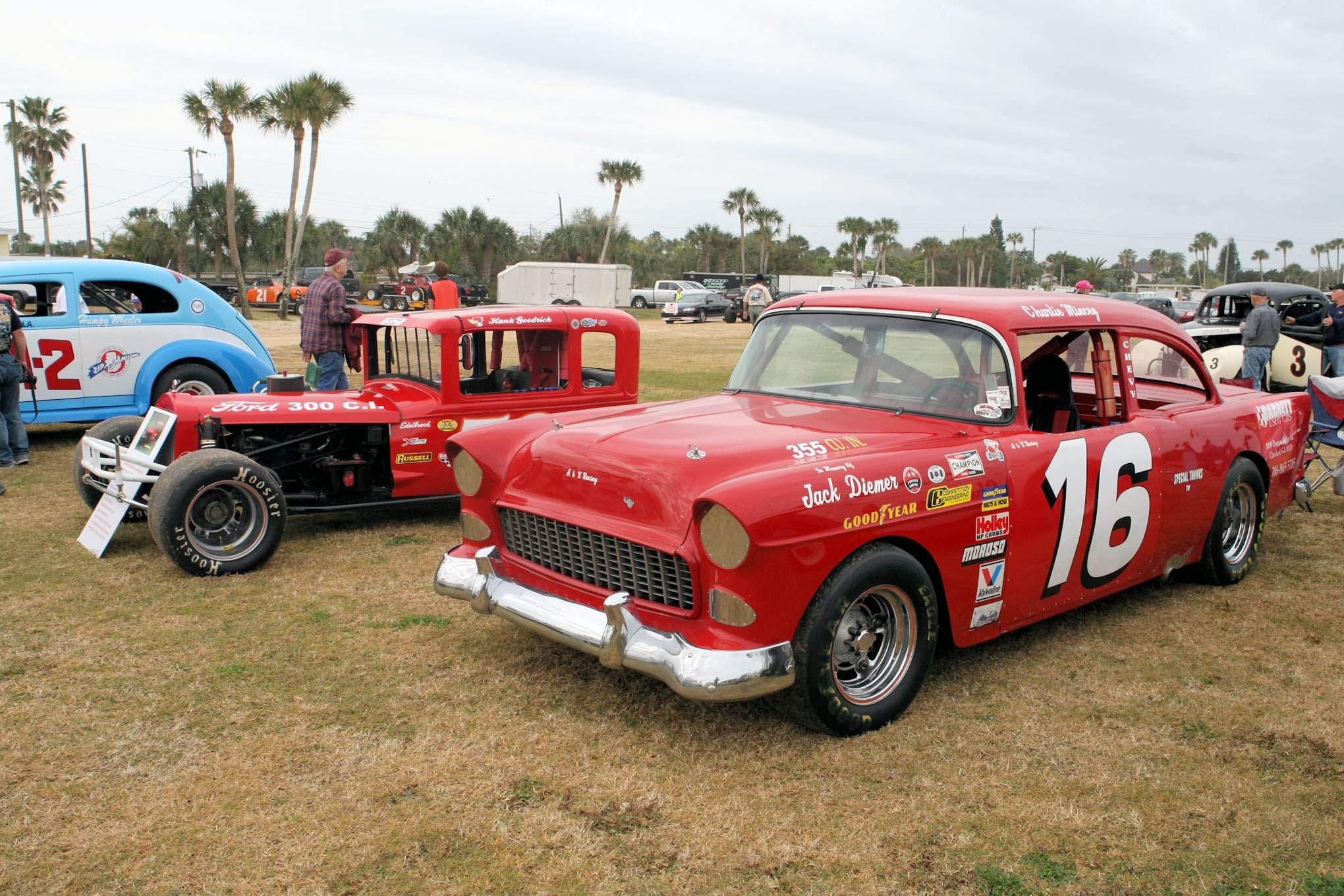 Stock Cars and Jalopies all on display for the viewing pleasure of the many Florida ascending race fans the second week of February.