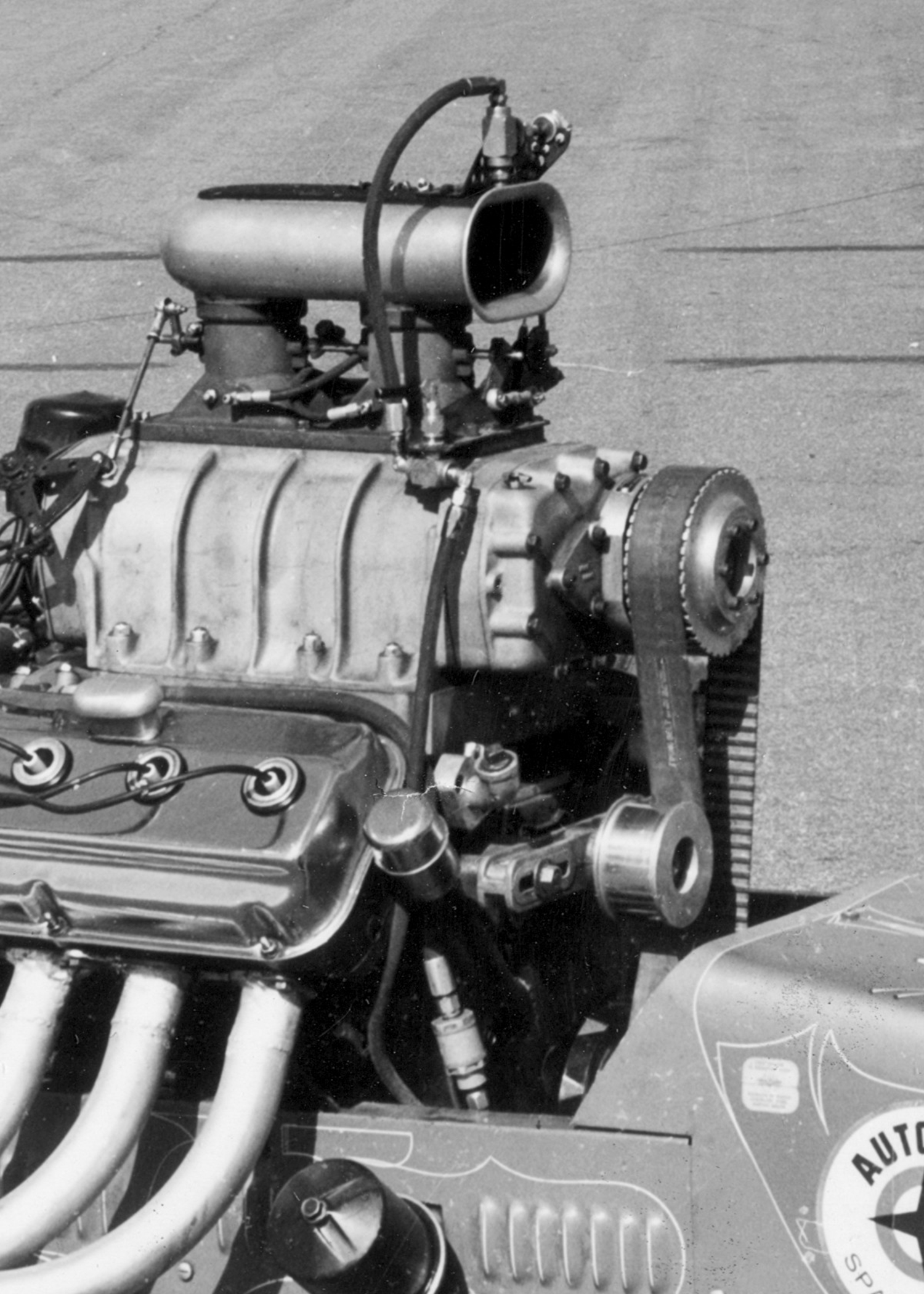 Jack Hordemann's nitrous design was as hard to ignore as Dick Flynn's was to find, yet nobody seemed to notice. The fogger-style system also exploited the latent heat of evaporation caused by fluid transforming to gas as a means to cool the entire intake tract.