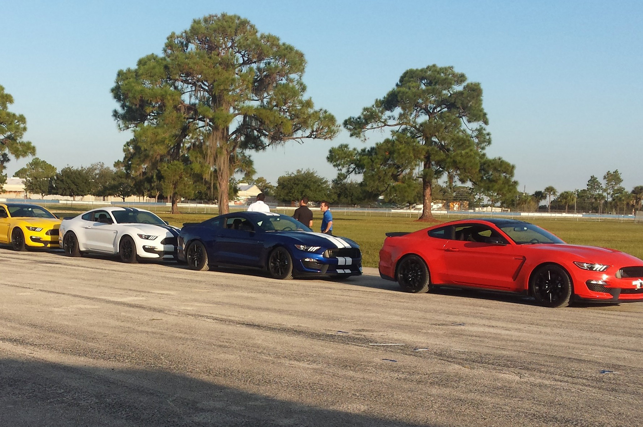 Ford supplies a selection of Shelby GT350 models (both base and R-model in various packages and colors) for the event along with helmet, HANS-type device, and more. All you need to do is wear long pants and closed-toed shoes.