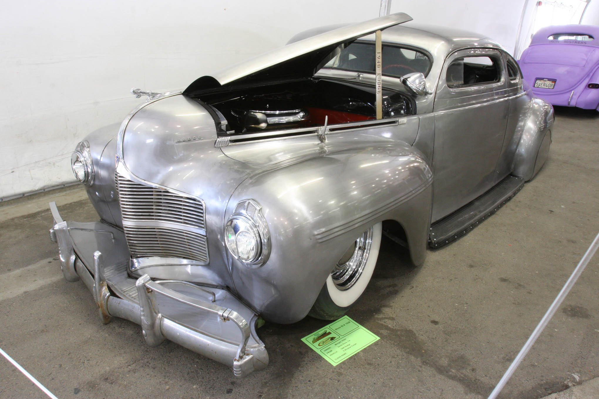 Since we saw it at the March Meet in 2015, this 1940 Dodge has seen some progress. Peter Menges of Menges Twins Speed Shop and Customs brought the chopped, Hemi-powered Dodge to Sacramento.