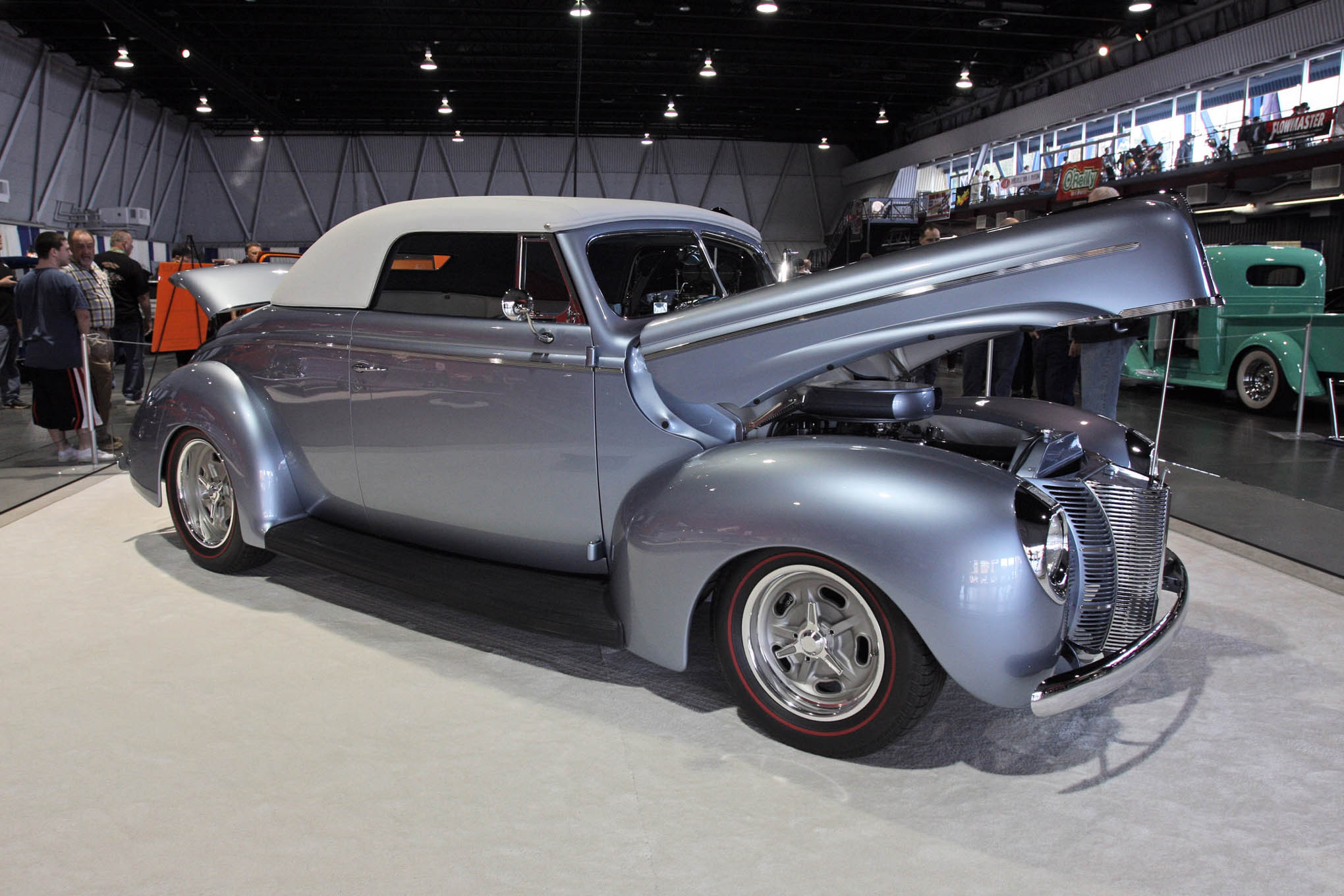 A couple weeks after making an impression at the Grand National Roadster Show, Tony and Paula Jurado's beautiful 1940 Ford convertible (built by South City Rod & Custom) was back home in Northern California, winning the Lee's Vintage Car Shop Restoration Award in Sacramento.